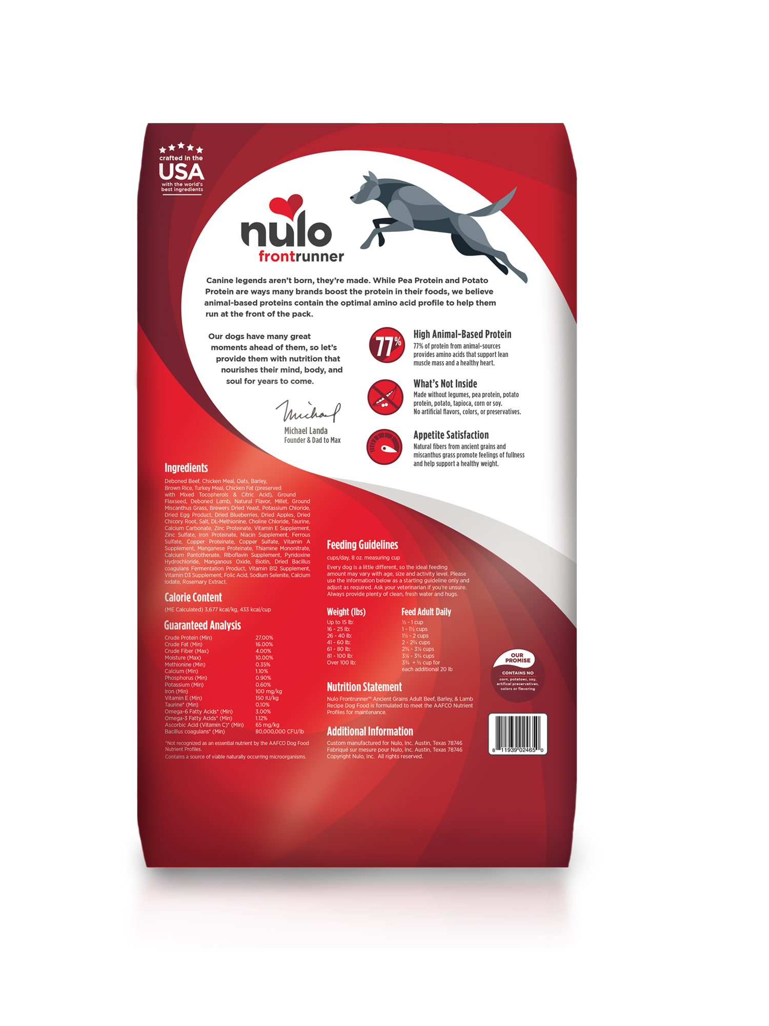 Nulo Nulo Frontrunner Adult Beef, Barley & Lamb Dry Dog Food