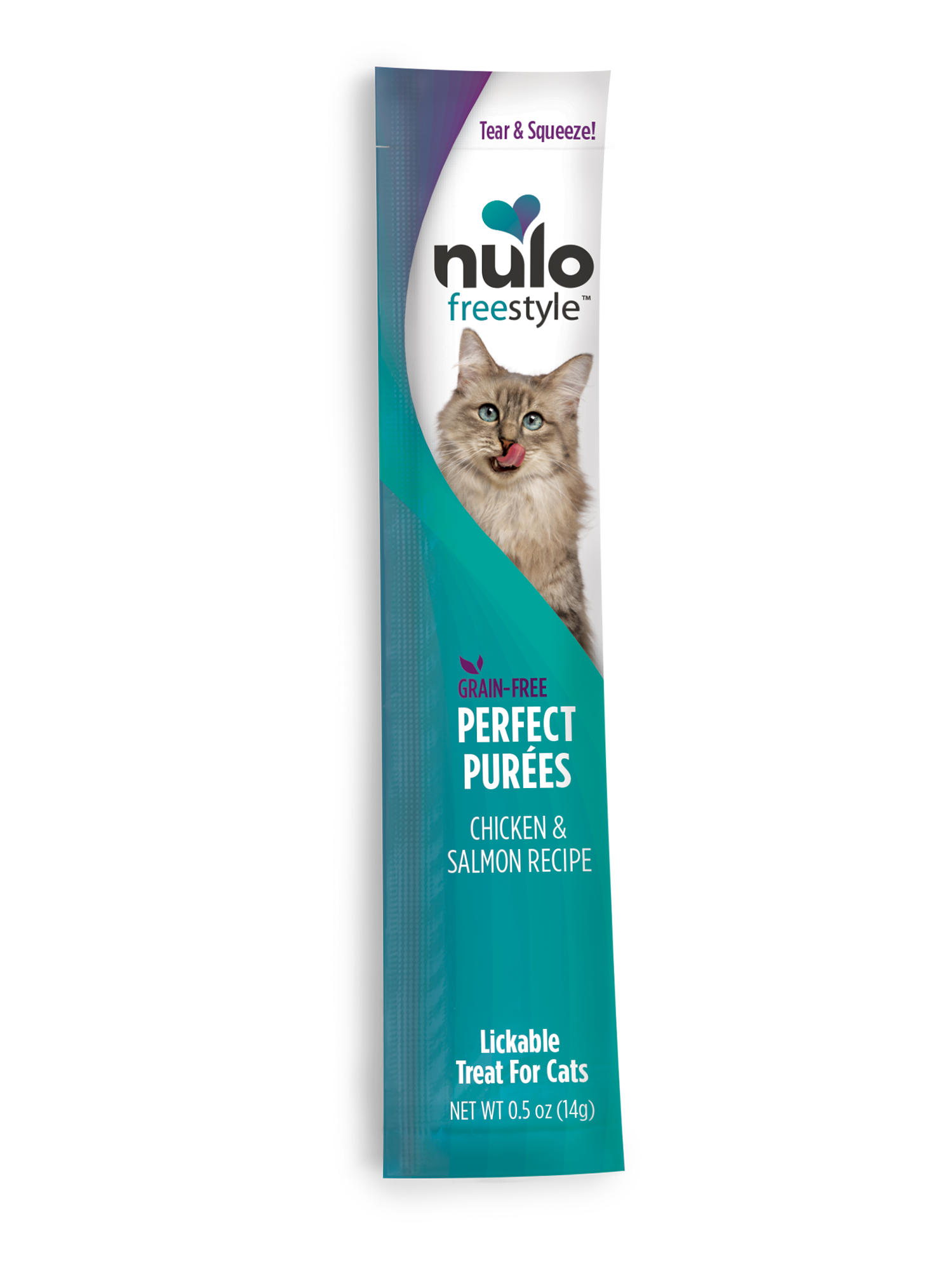 Nulo Nulo Freestyle Perfect Purees Chicken & Salmon Cat Treat 0.5oz