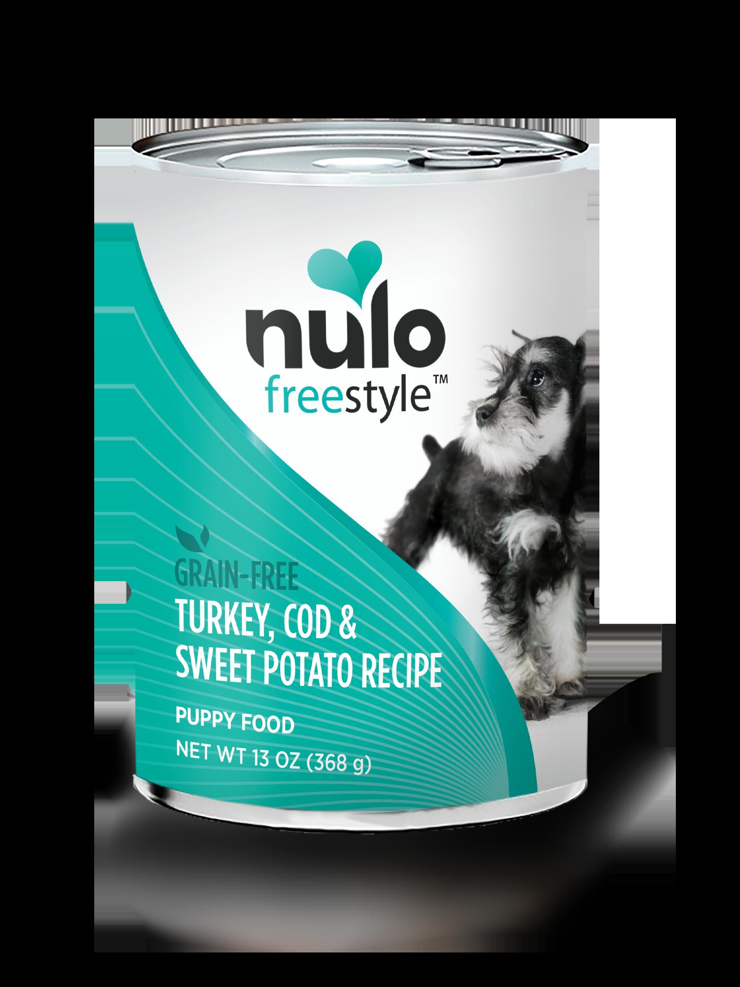 Nulo Nulo Freestyle Puppy Turkey, Cod & Sweet Potato Wet Dog Food 13oz