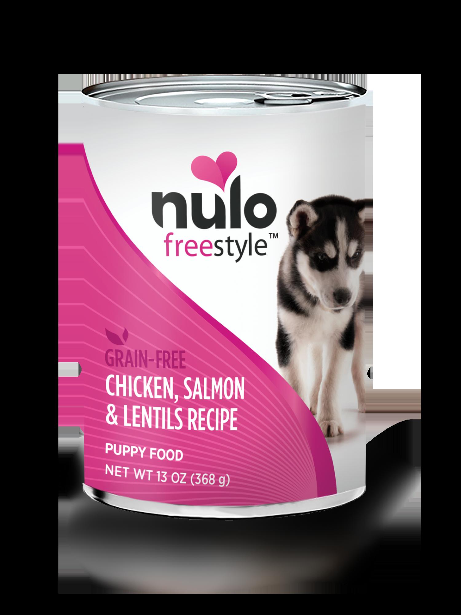 Nulo Nulo Freestyle Puppy Chicken, Salmon & Lentils Wet Dog Food 13oz