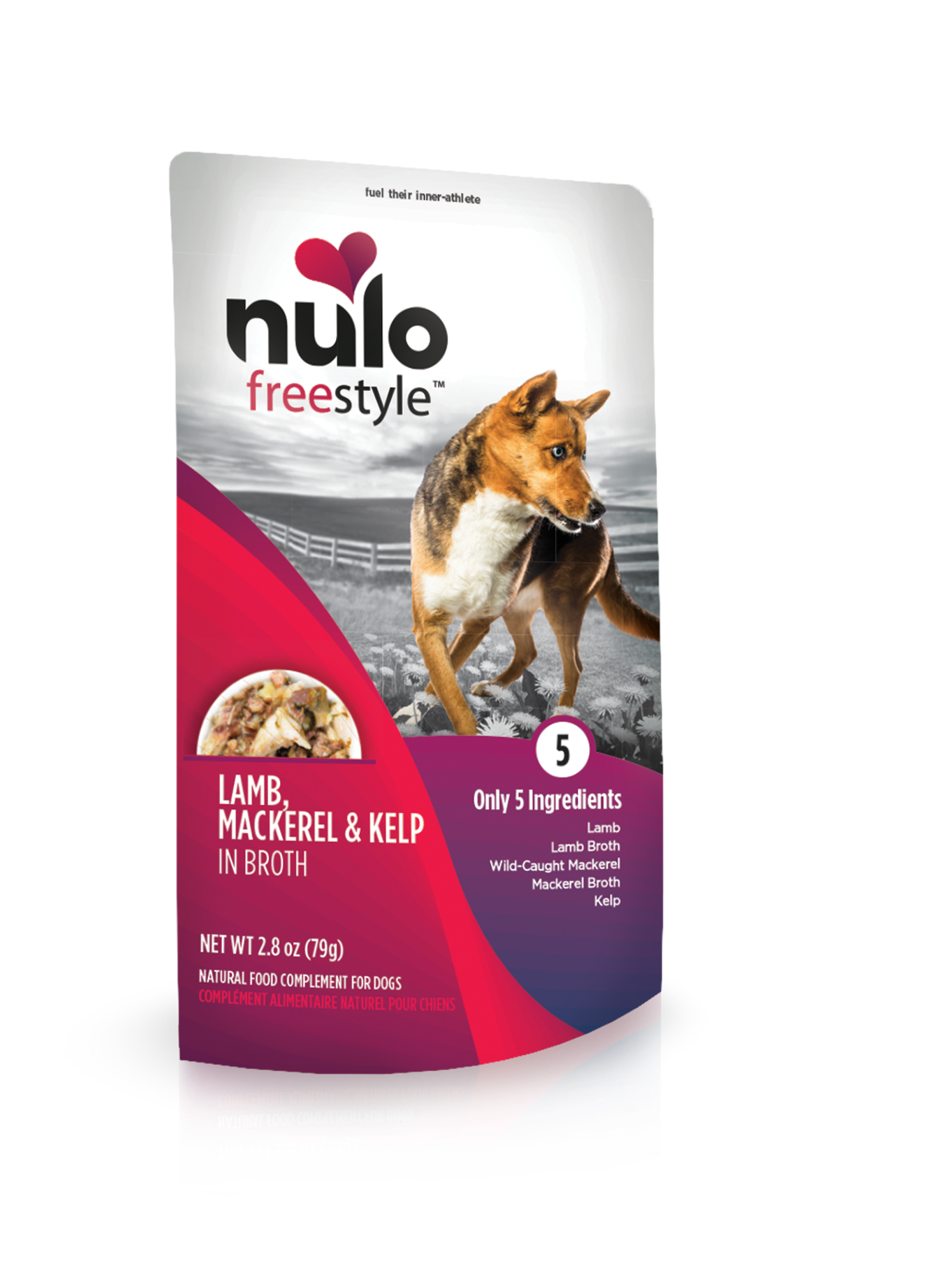 Nulo Nulo Freestyle Pouch Lamb, Mackerel & Kelp Wet Dog Food 2.8oz