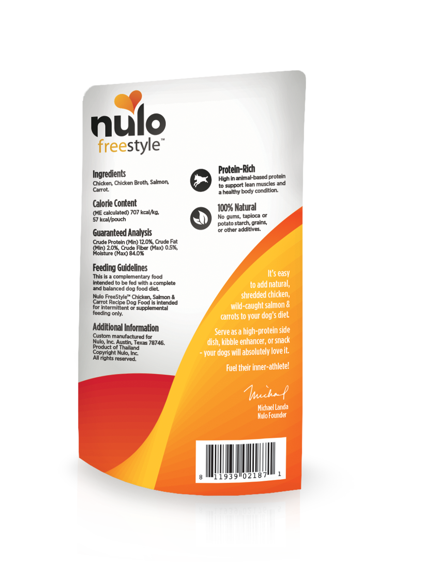 Nulo Nulo Freestyle Pouch Chicken, Salmon & Carrot Wet Dog Food 2.8oz