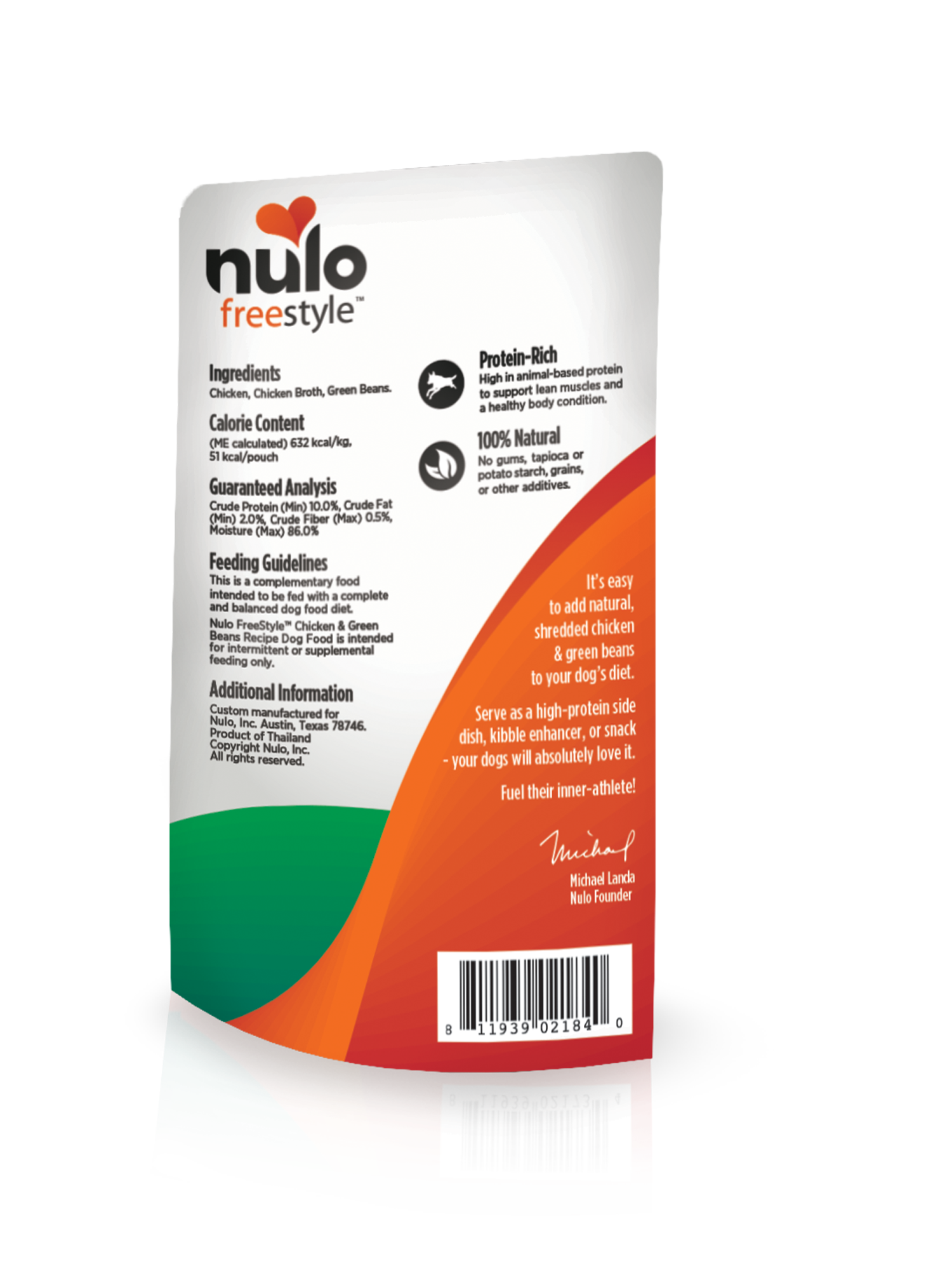 Nulo Nulo Freestyle Pouch Chicken & Green Beans Wet Dog Food 2.8oz