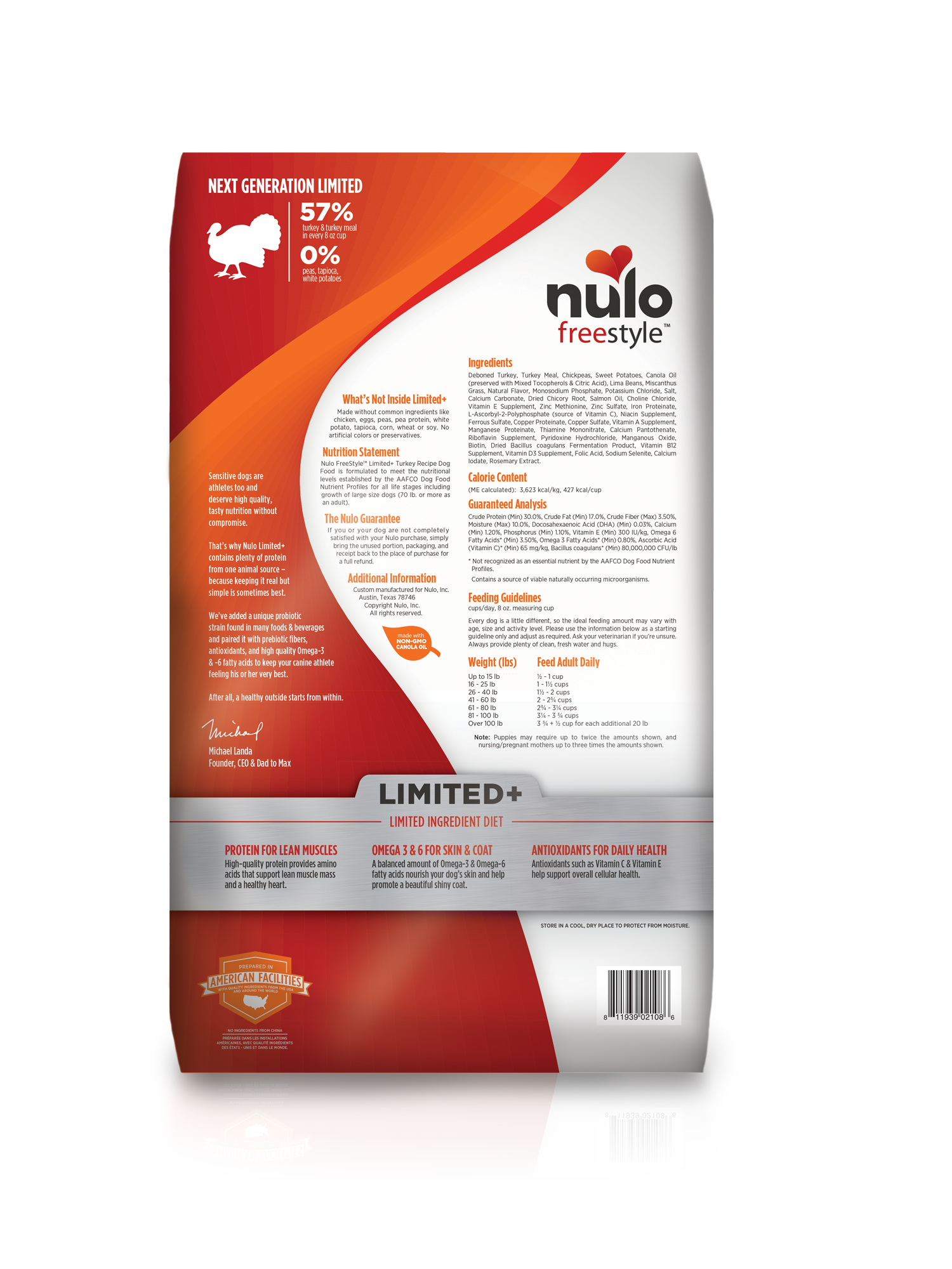 Nulo Nulo Freestyle Limited+ Turkey Dry Dog Food