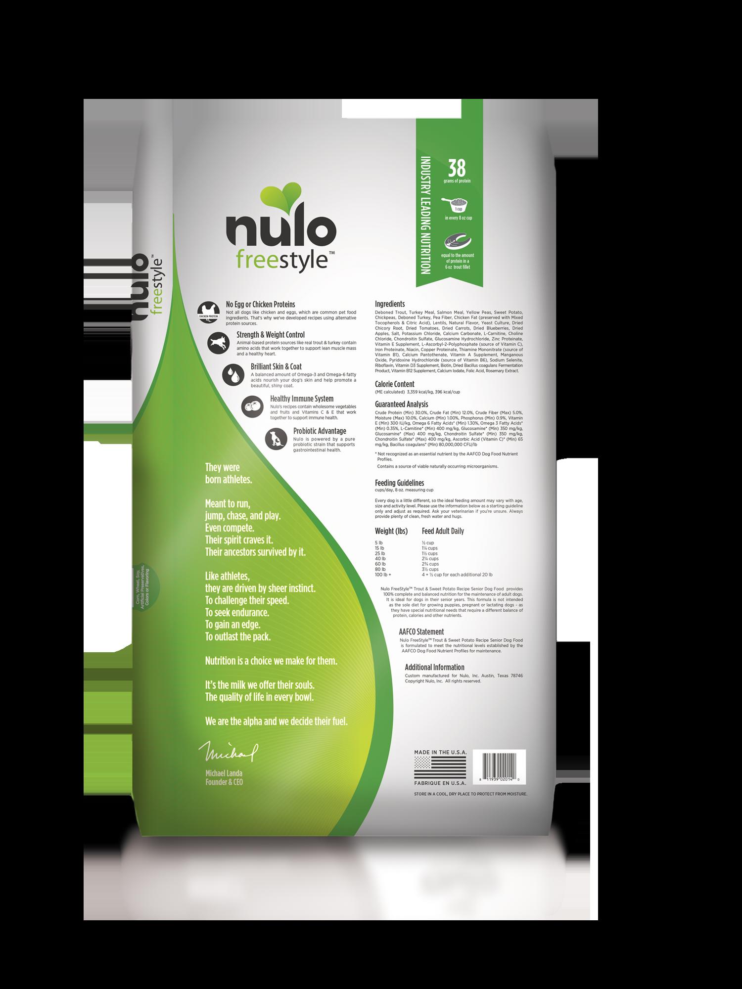 Nulo Nulo Freestyle Senior Trout & Sweet Potato Dry Dog Food