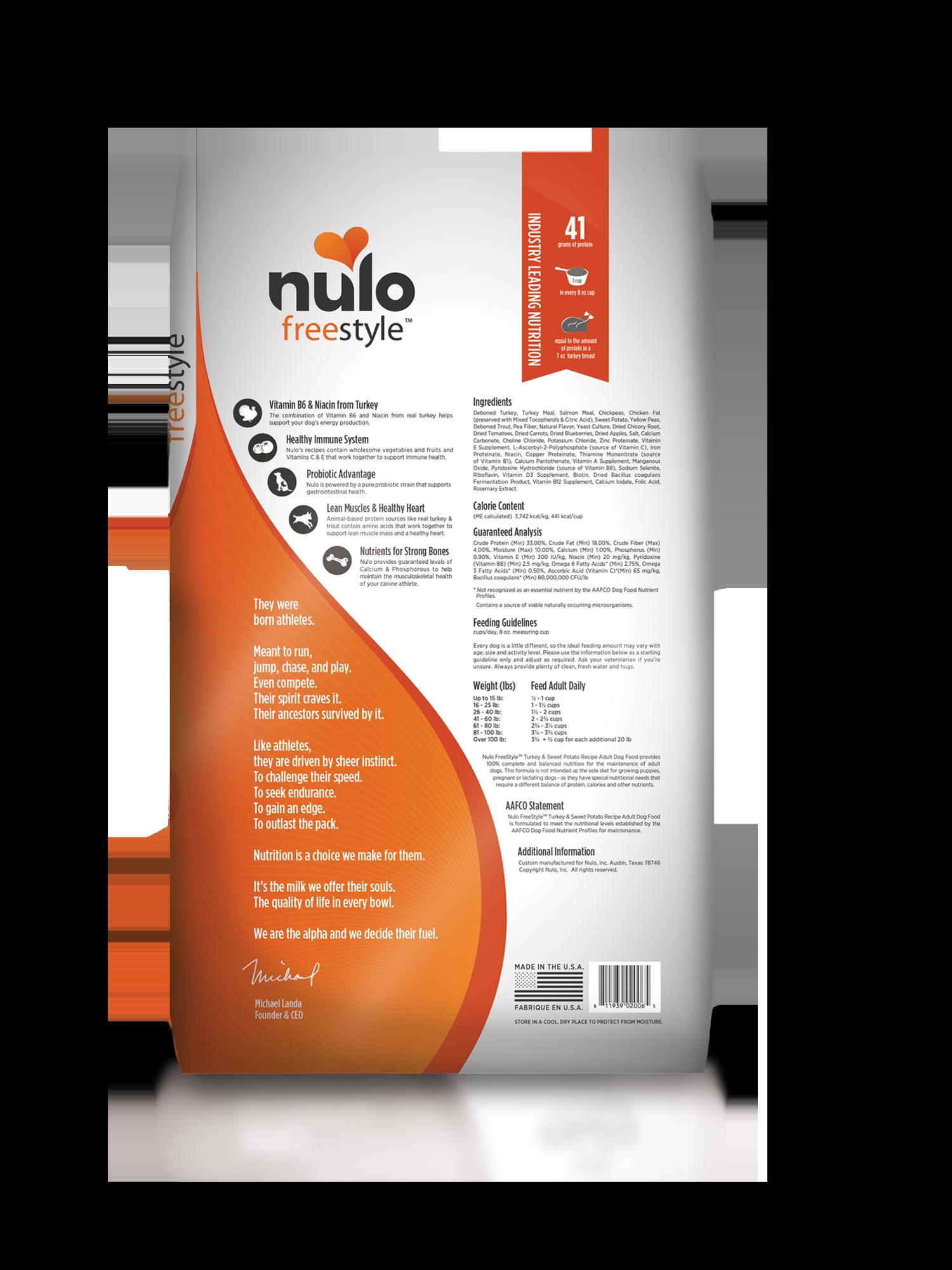 Nulo Nulo Freestyle Adult Turkey & Sweet Potato Dry Dog Food