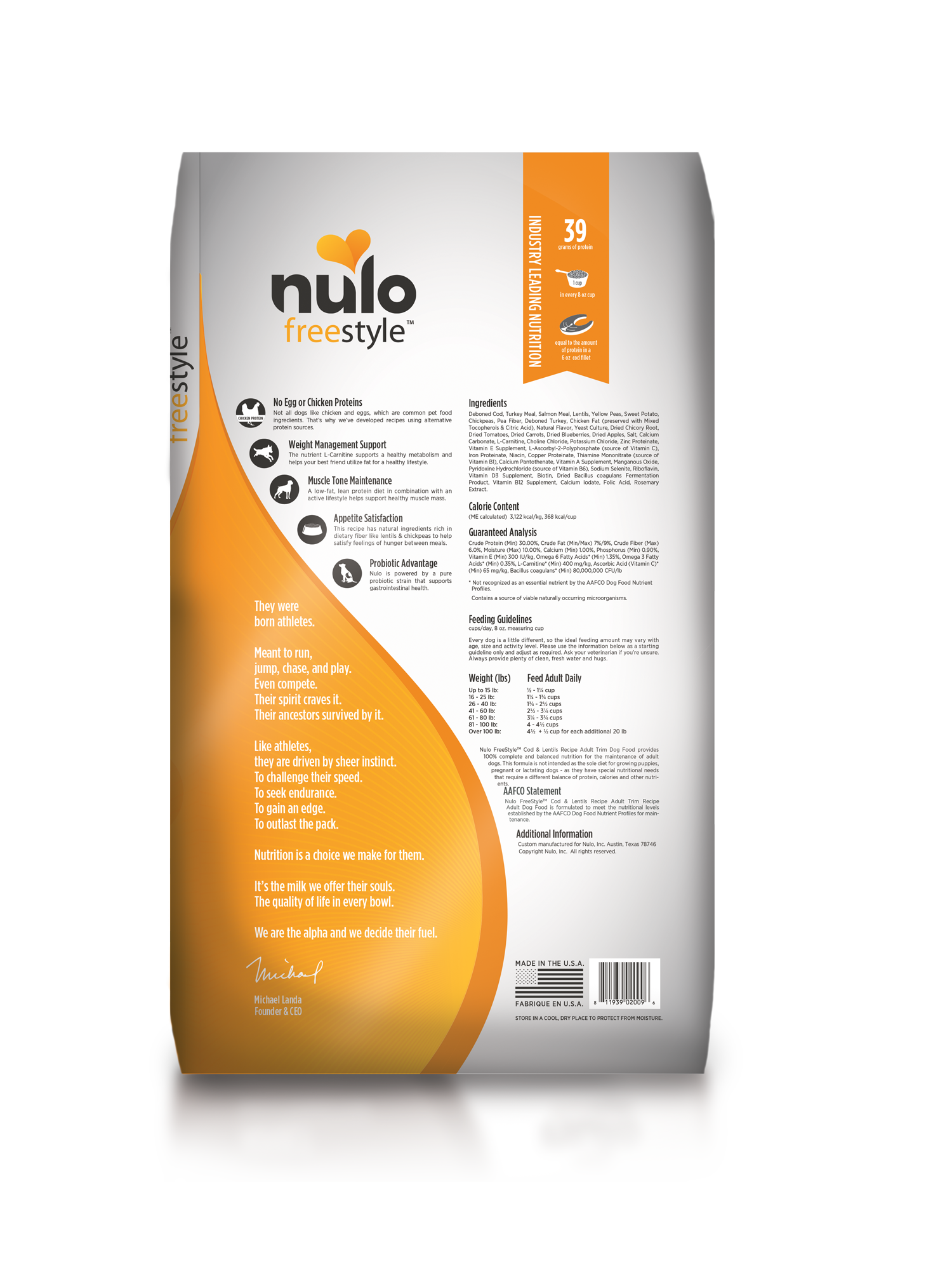 Nulo Nulo Freestyle Adult Trim Cod & Lentils Dry Dog Food