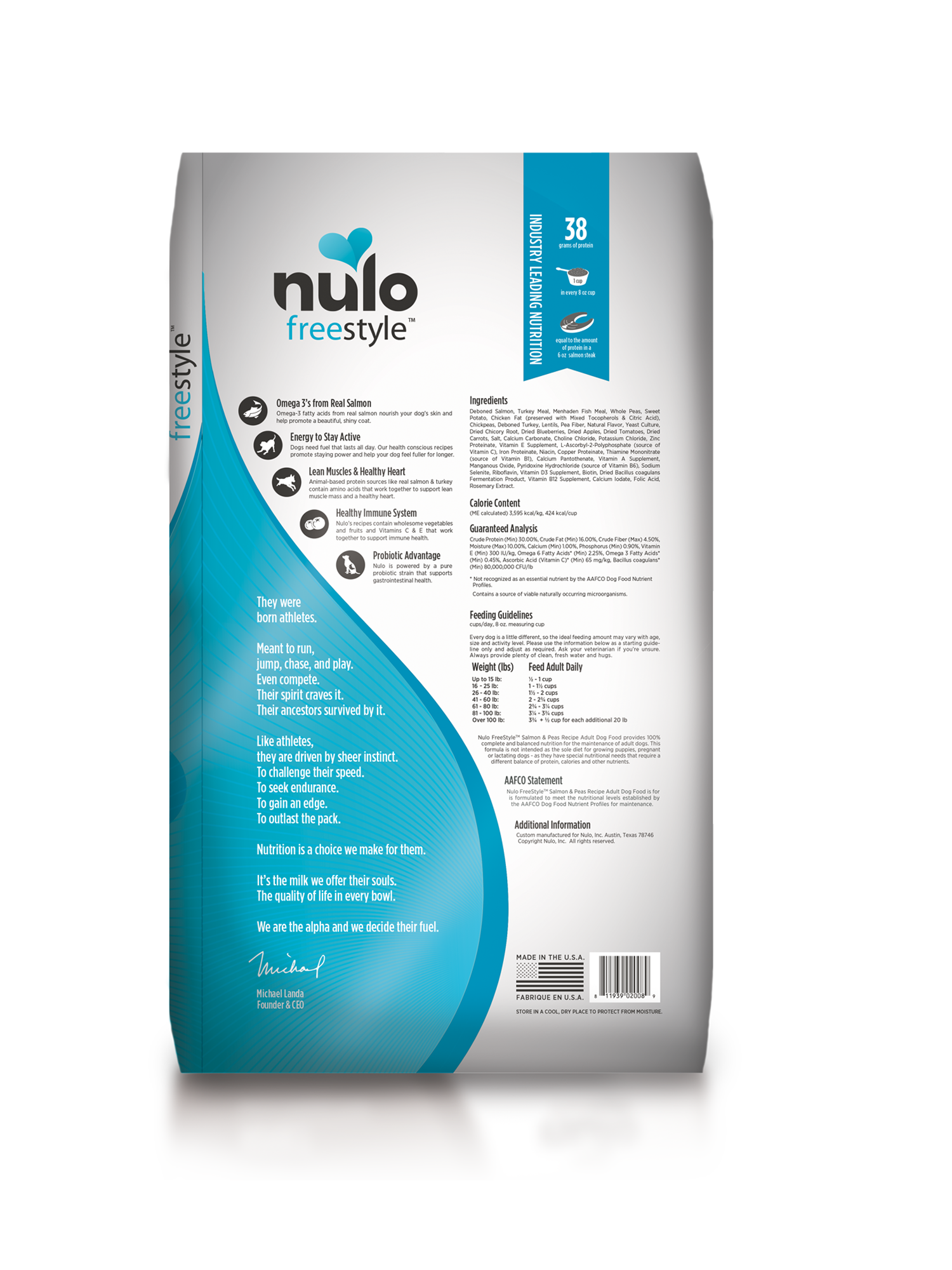Nulo Nulo Freestyle Adult Salmon & Peas Dry Dog Food