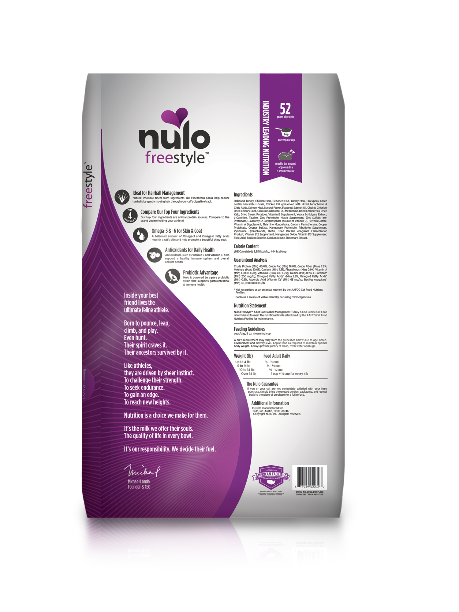 Nulo Nulo Freestyle Hairball Management Turkey & Cod Dry Cat Food