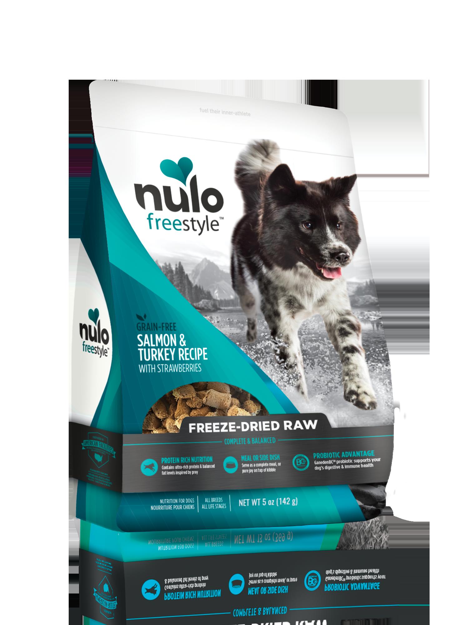 Nulo Nulo Freeze Dried Raw Salmon & Turkey with Strawberries Dog Food