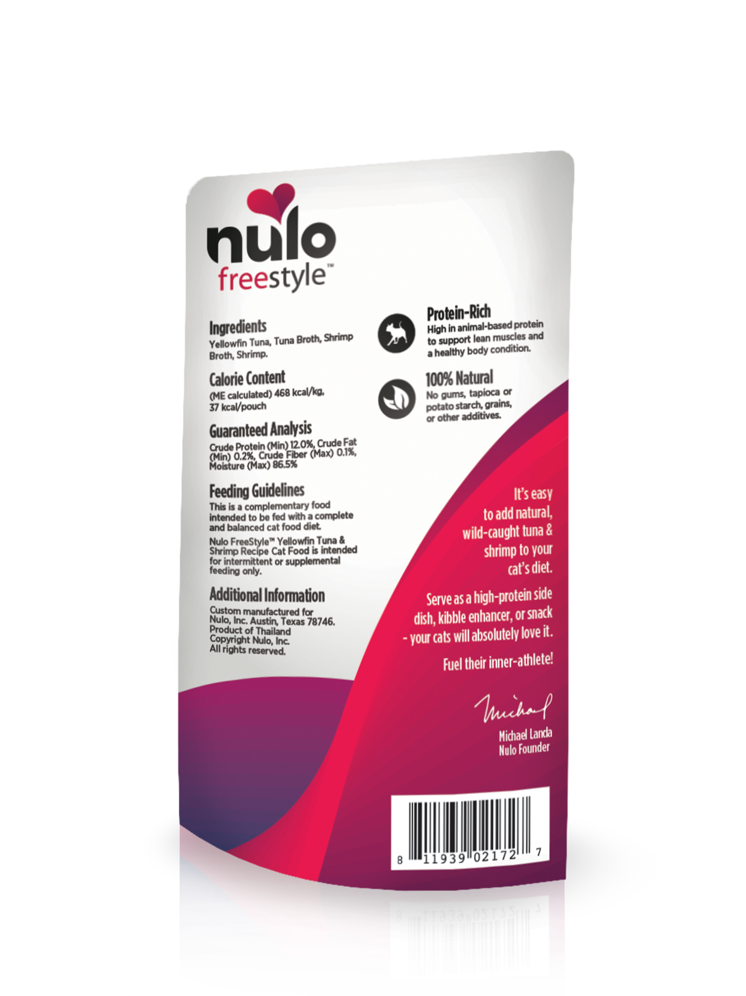 Nulo Nulo Freestyle Pouch Yellowfin Tuna & Shrimp Wet Cat Food 2.8oz