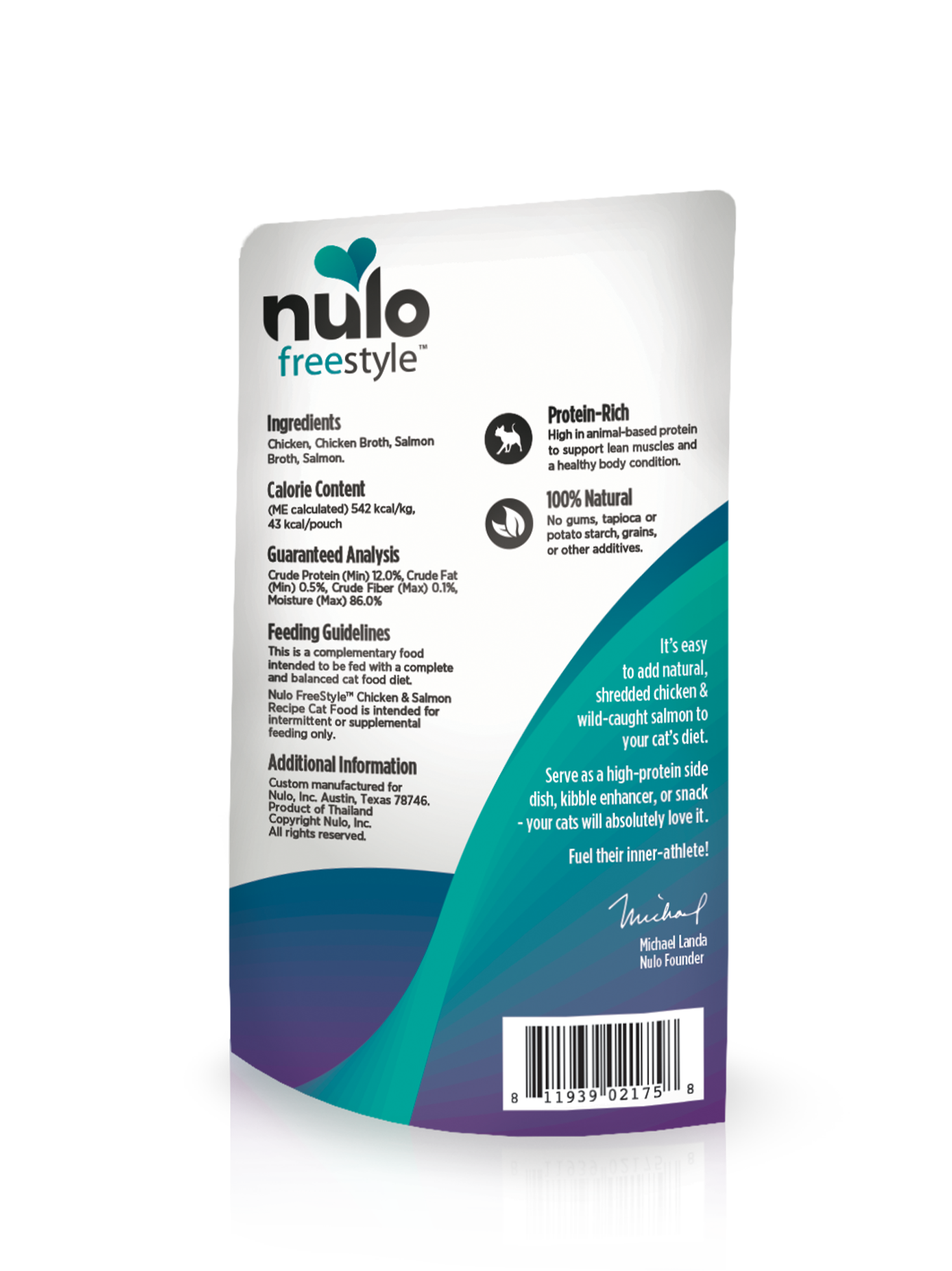 Nulo Nulo Freestyle Pouch Chicken & Salmon Wet Cat Food 2.8oz