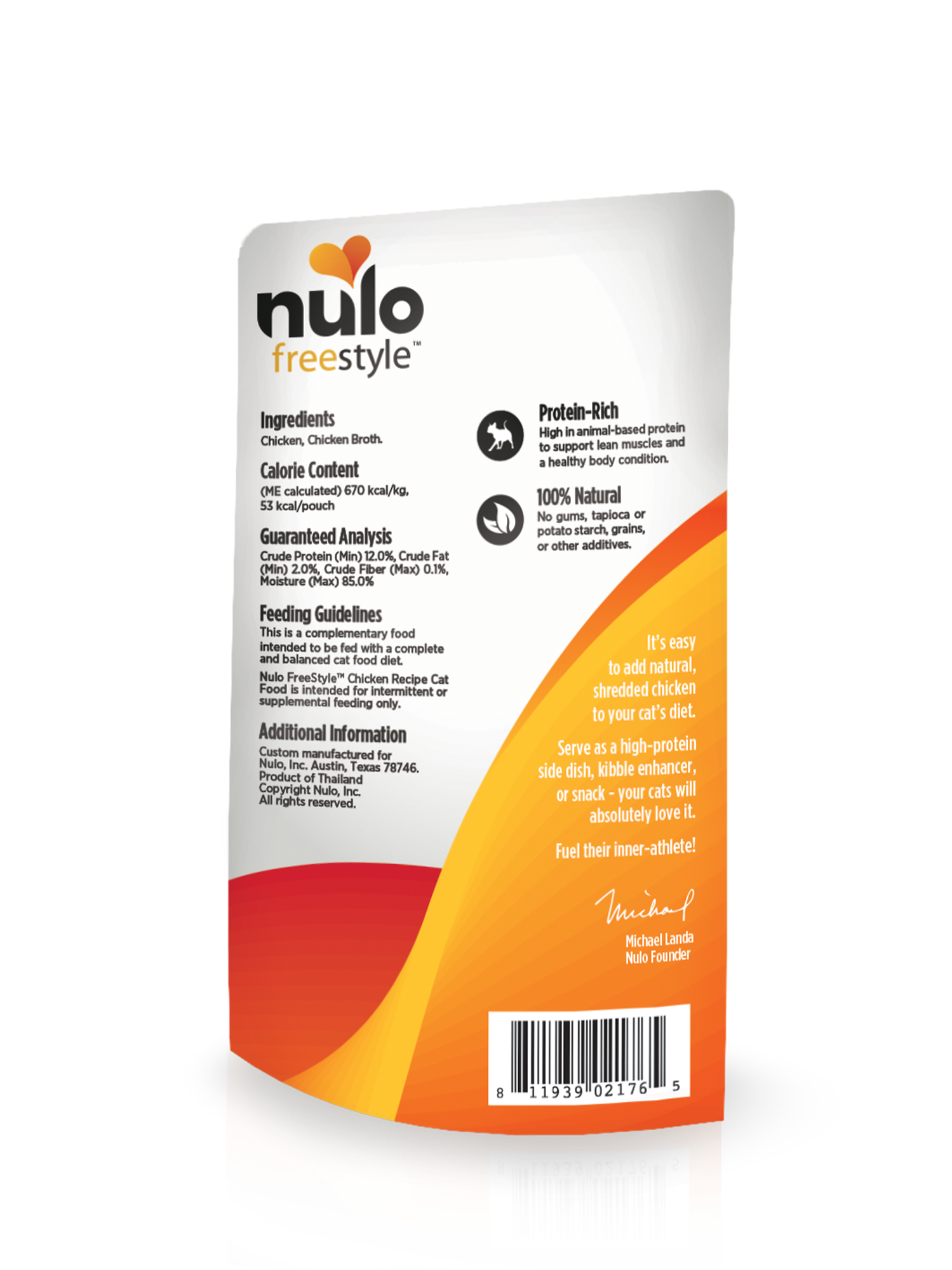 Nulo Nulo Freestyle Pouch Chicken Wet Cat Food 2.8oz