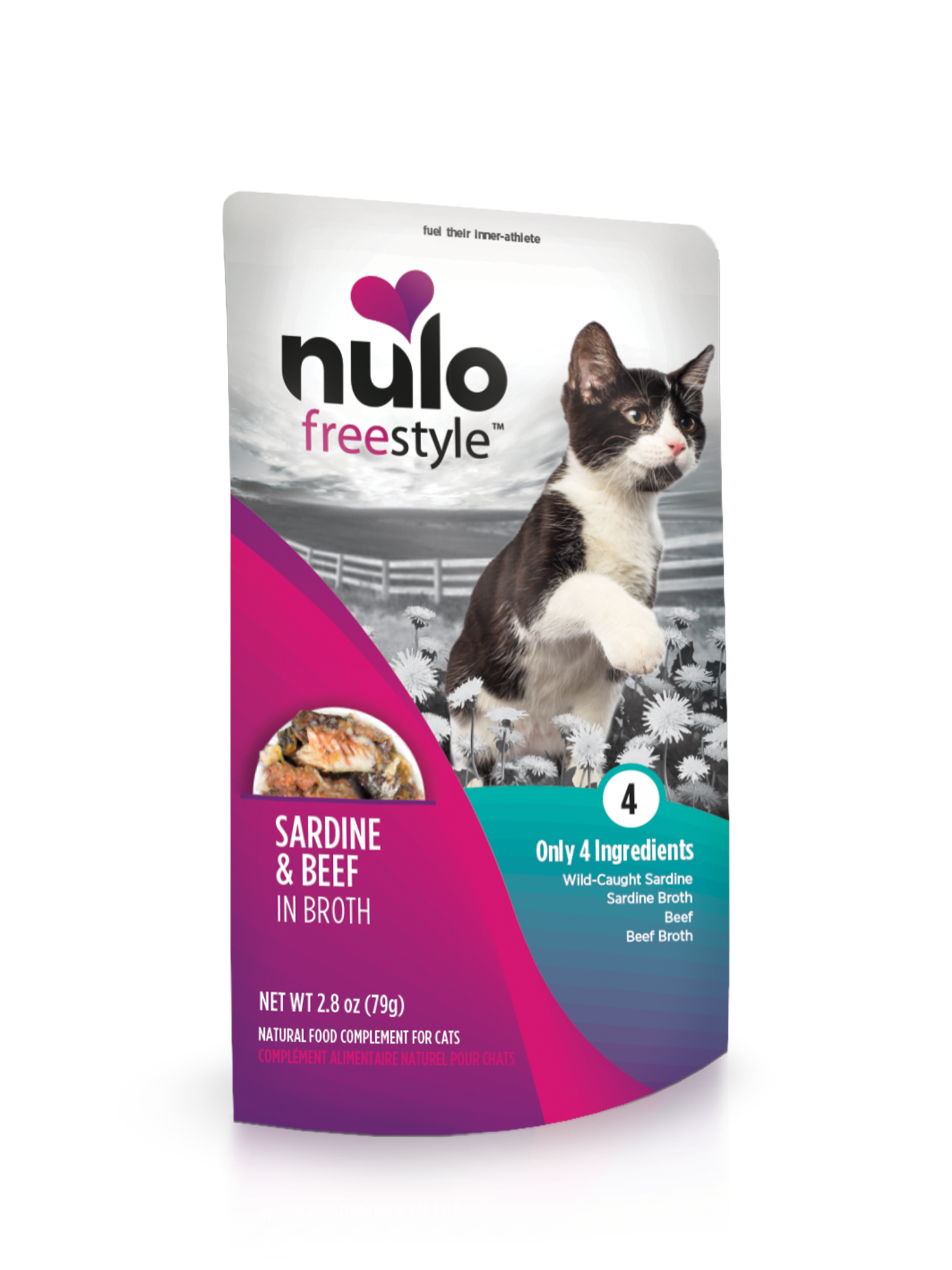 Nulo Nulo Freestyle Pouch Sardine & Beef Wet Cat Food 2.8oz