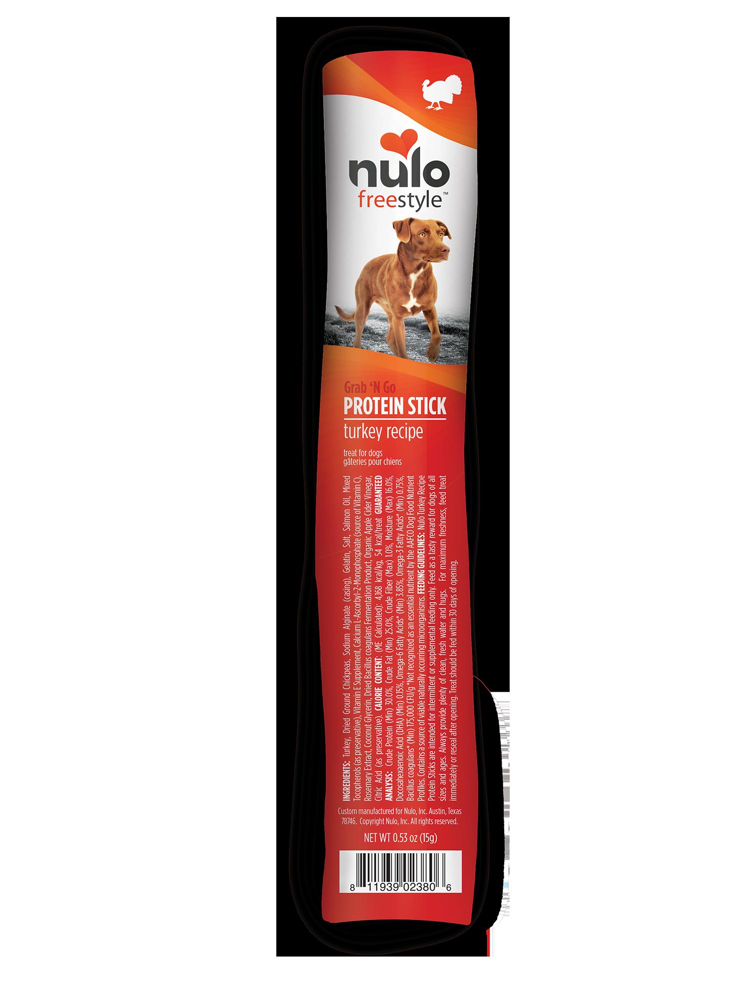 Nulo Nulo Freestyle Protein Sticks Turkey Dog Treat 0.4oz