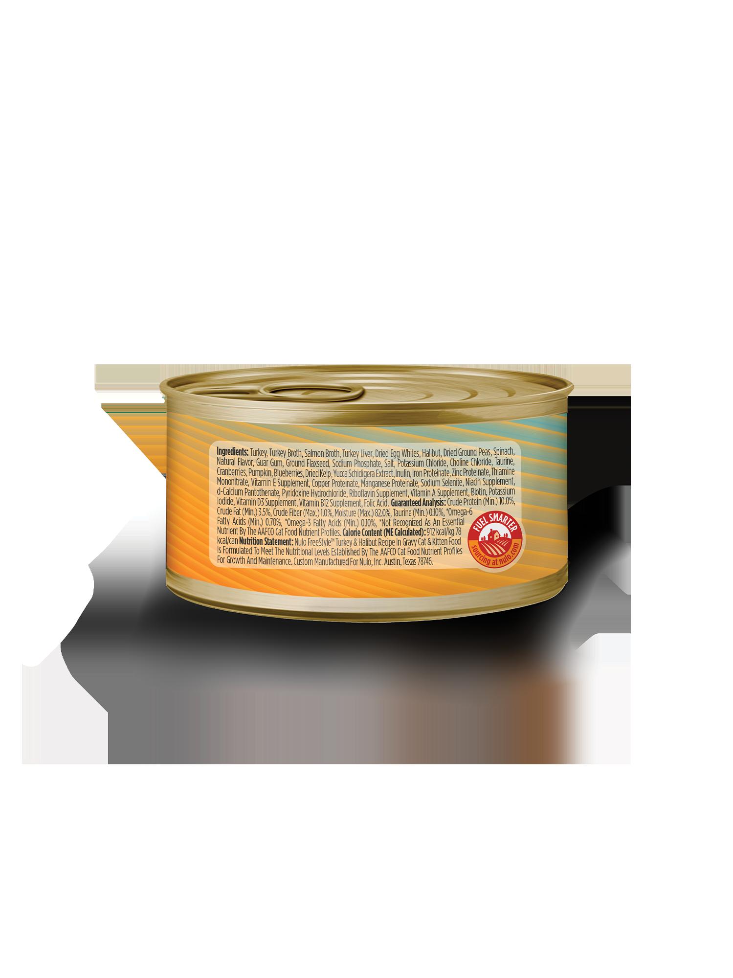 Nulo Nulo Freestyle Shredded Turkey & Halibut Wet Cat Food 3oz