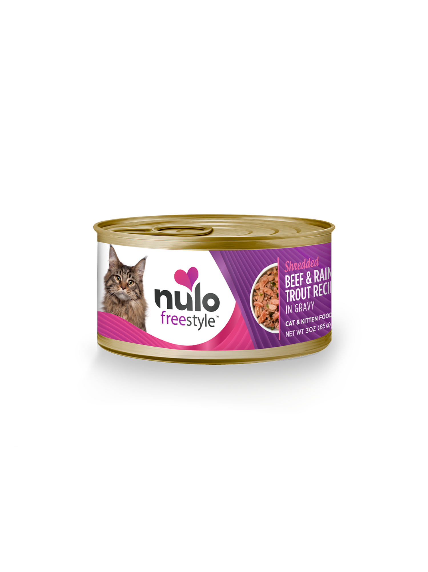 Nulo Nulo Freestyle Shredded Beef & Rainbow Trout Wet Cat Food 3oz