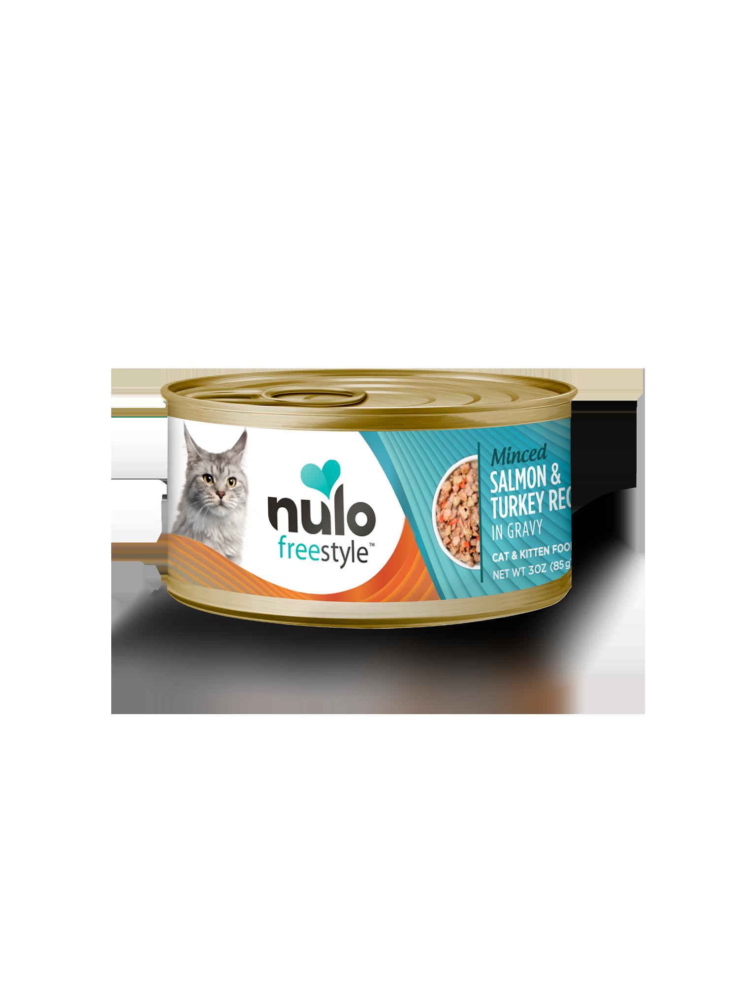 Nulo Nulo Freestyle Minced Salmon & Turkey Wet Cat Food 3oz