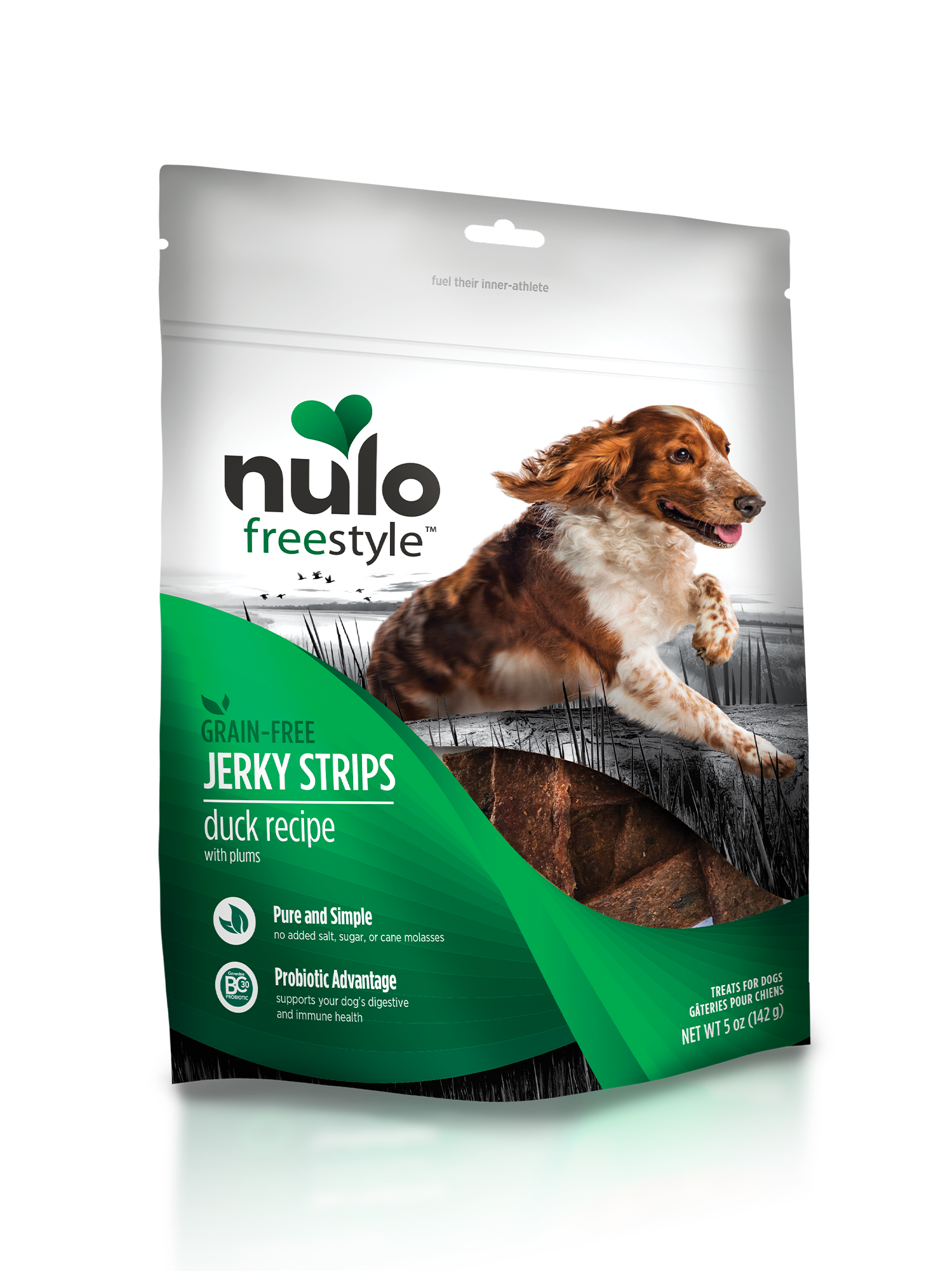 Nulo Nulo Freestyle Jerky Strips Duck & Plum Dog Treat 5oz