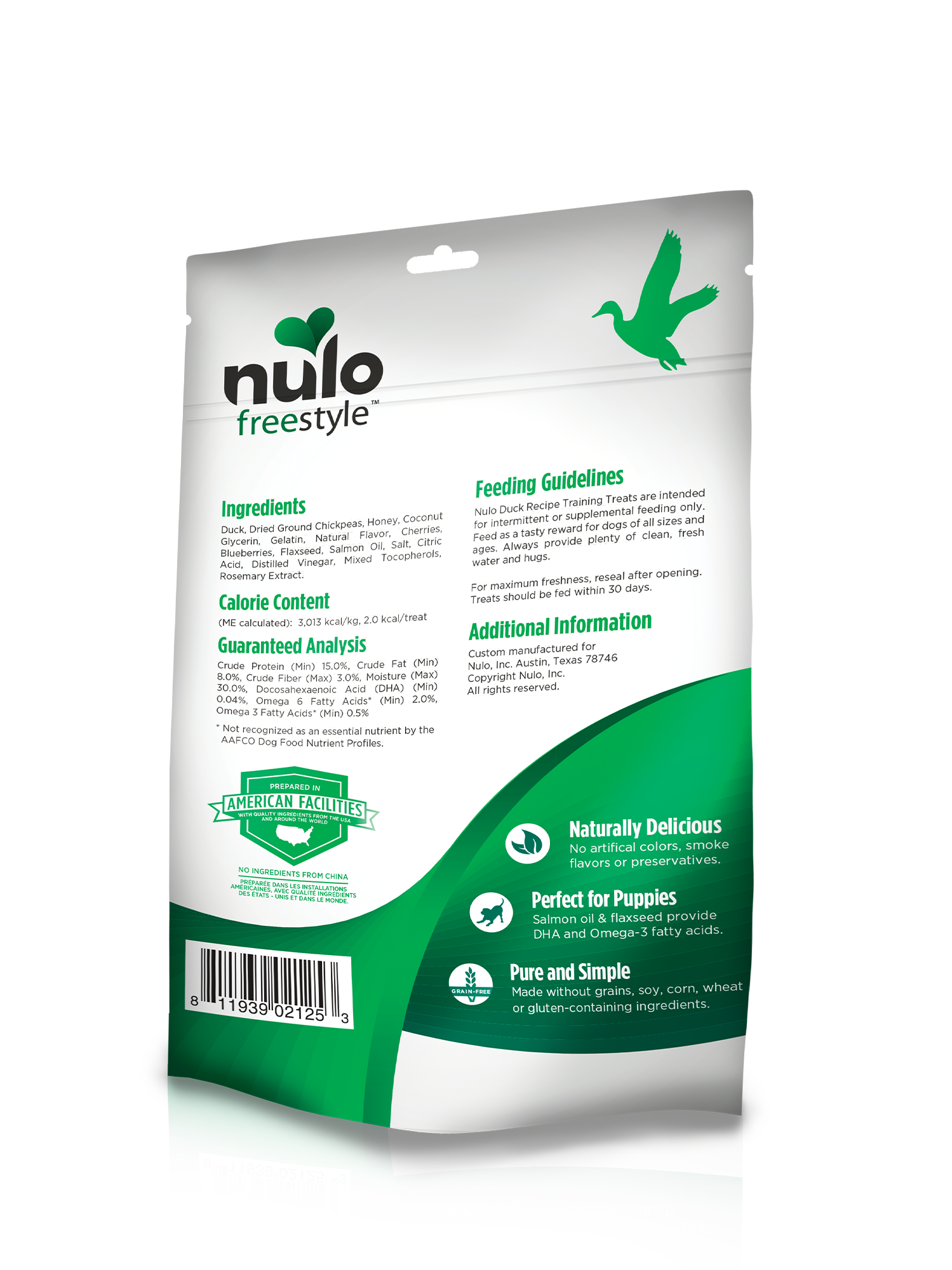 Nulo Nulo Freestyle Trainers Duck Dog Treat 4oz