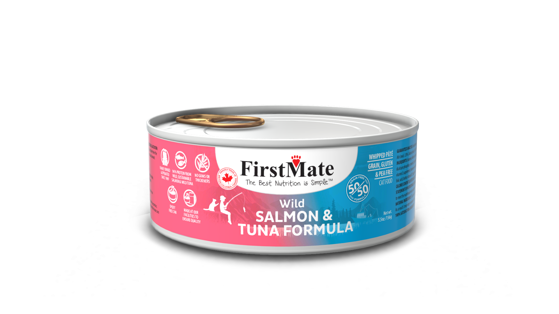 FirstMate FirstMate Limited Ingredient Diet 50/50 Salmon & Tuna Wet Cat Food 5.5oz