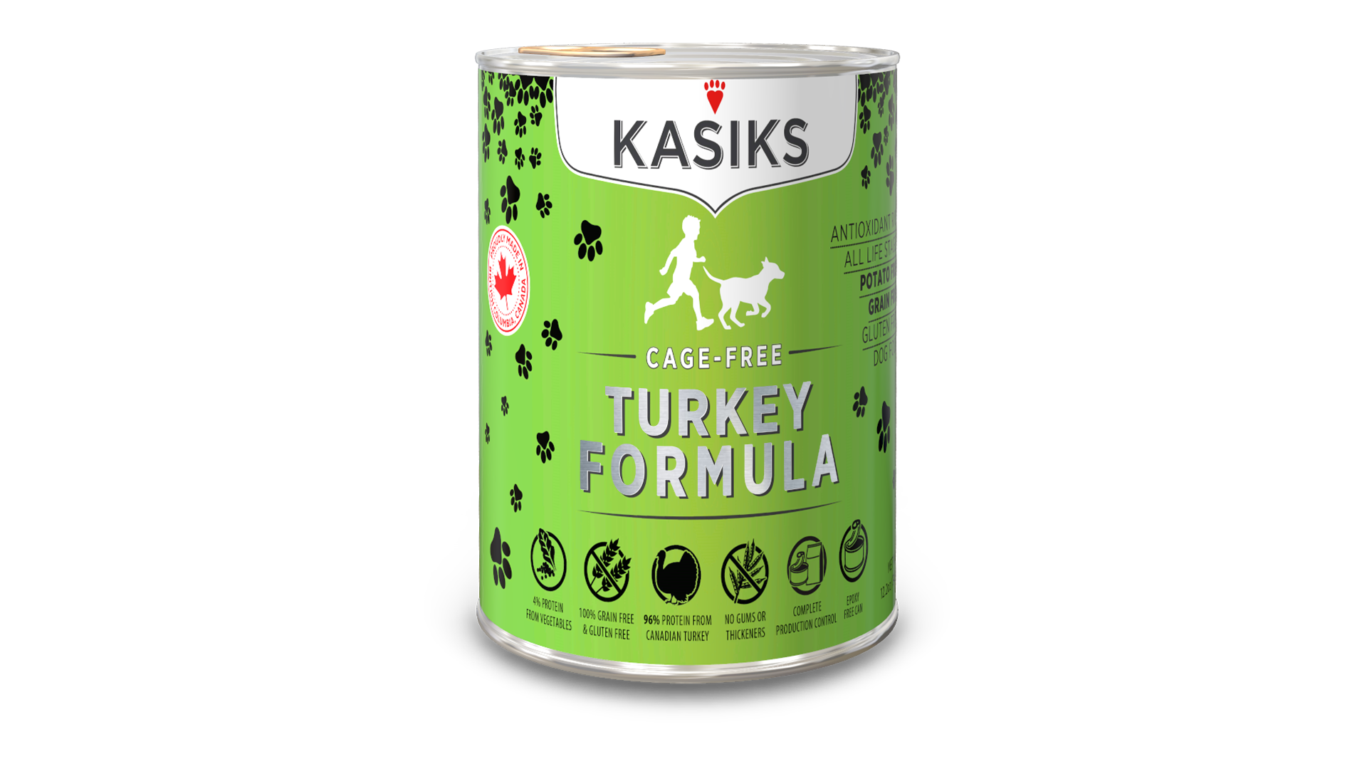 Kasiks Kasiks Cage Free Turkey Wet Dog Food 12.2oz