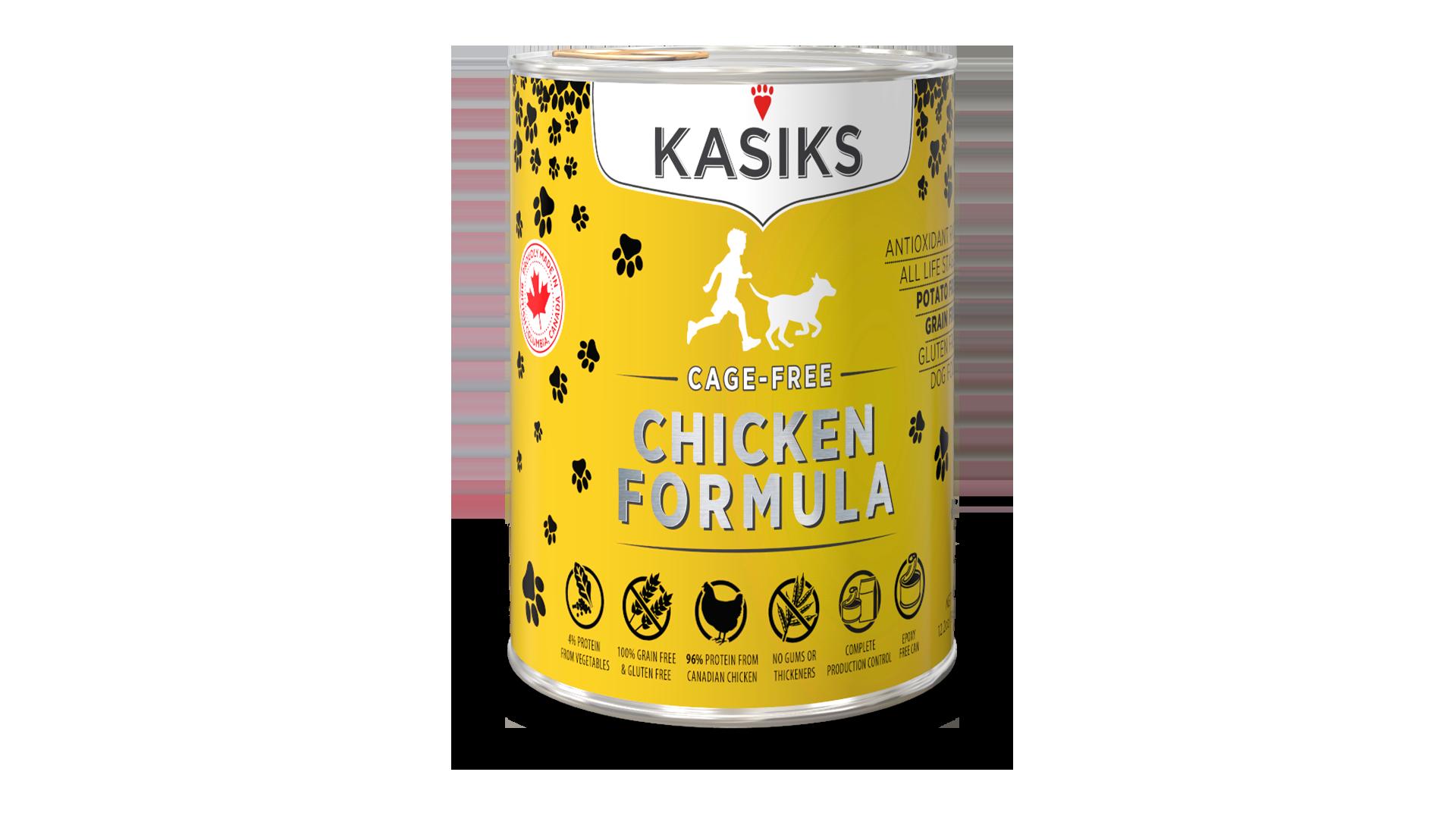 Kasiks Kasiks Cage Free Chicken Wet Dog Food 12.2oz