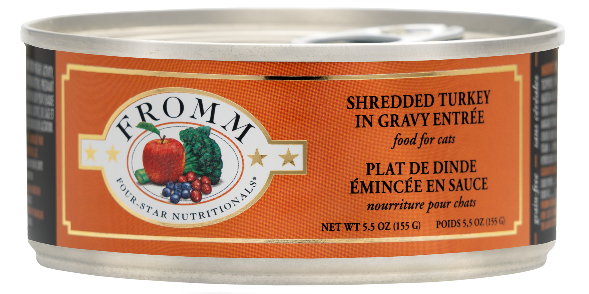 Fromm Fromm Four Star  Shredded Turkey in Gravy Wet Cat Food 5.5oz