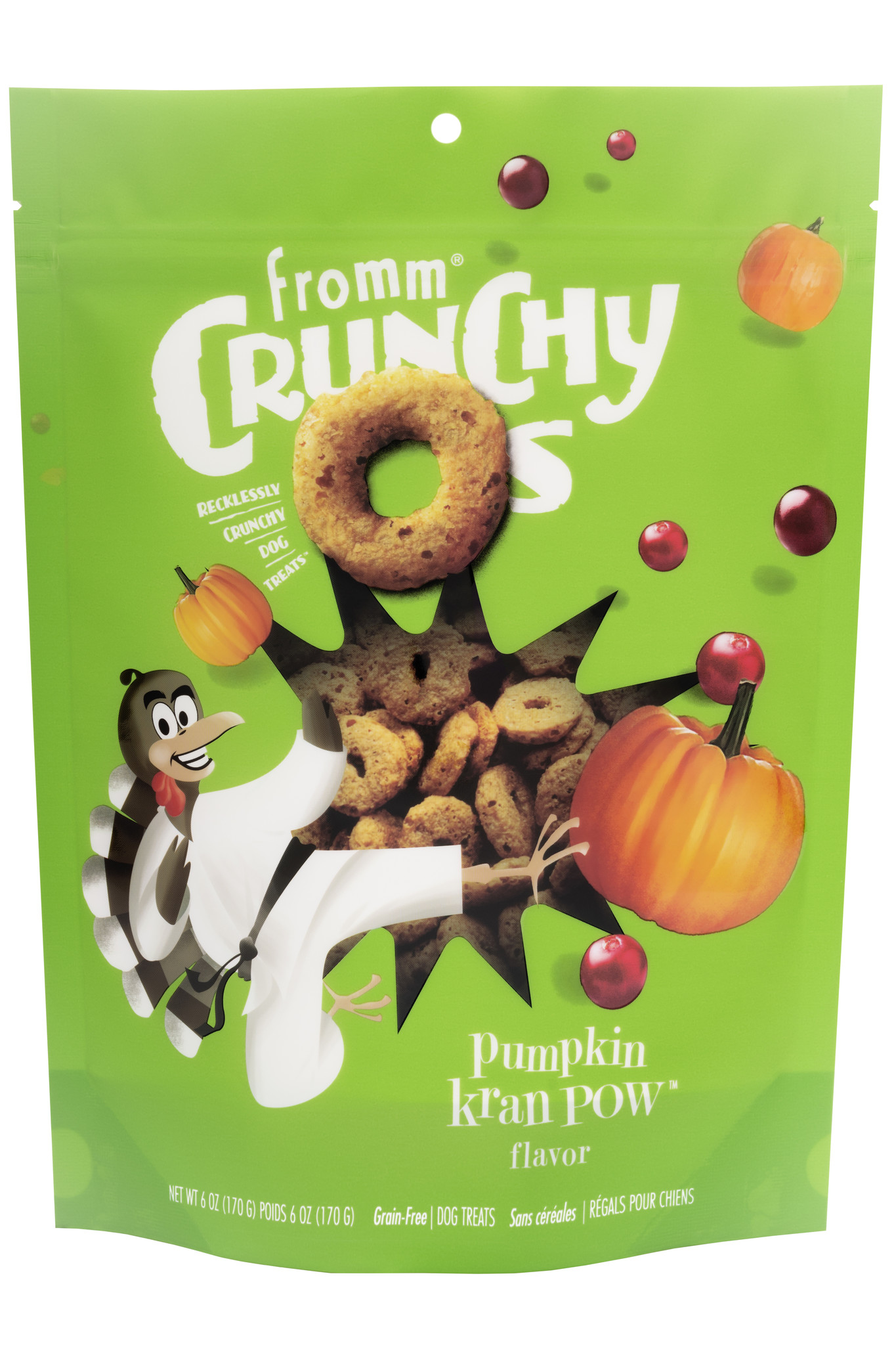 Fromm Fromm Crunchy-O's Pumpkin Kran POW Dog Treats 6oz