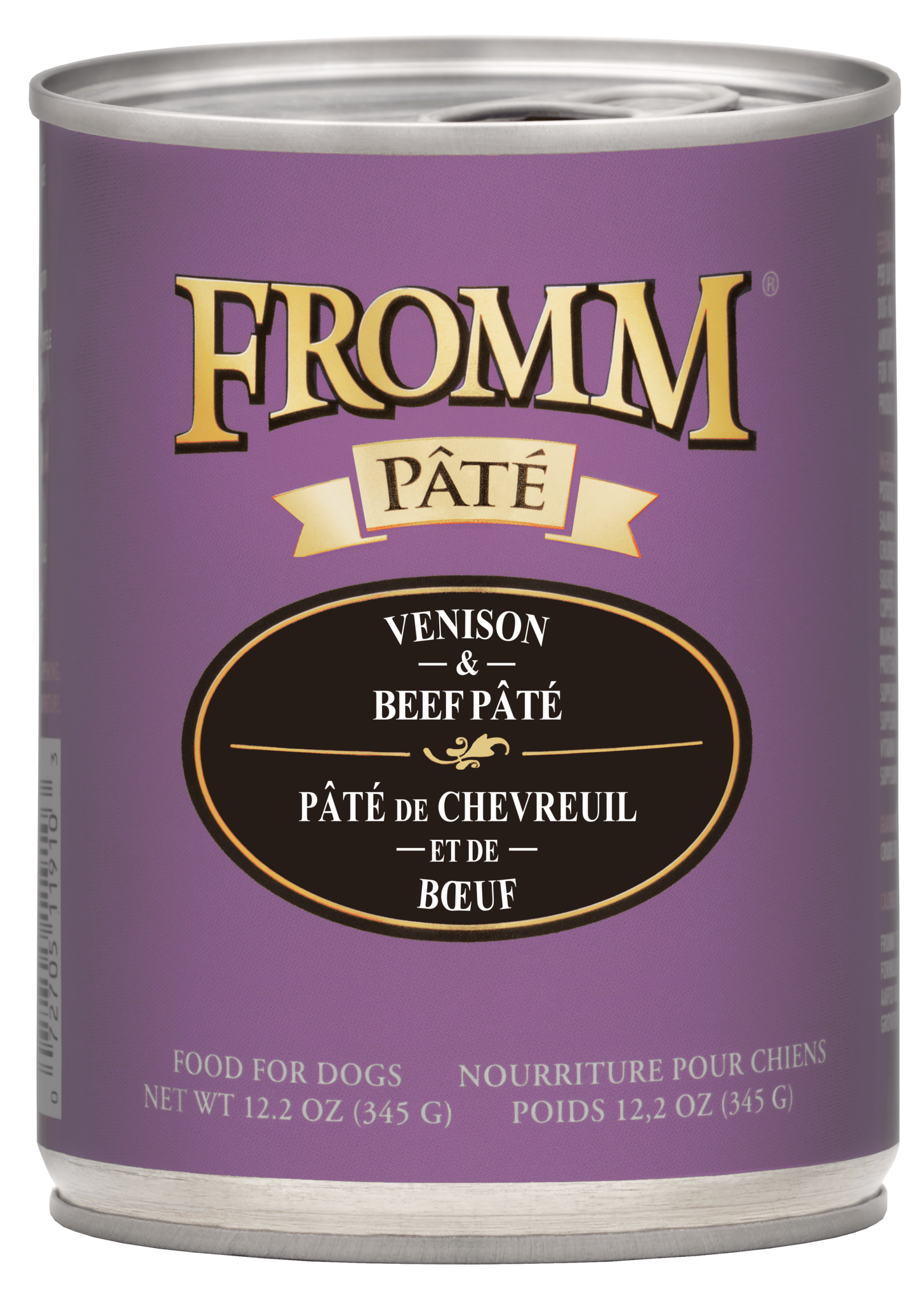 Fromm Fromm Gold Venison & Beef Pate Wet Dog Food 12.2oz