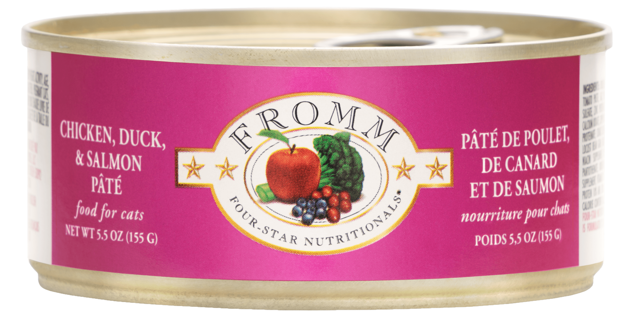 Fromm Fromm Four Star Chicken, Duck & Salmon Pate Wet Cat Food 5.5oz