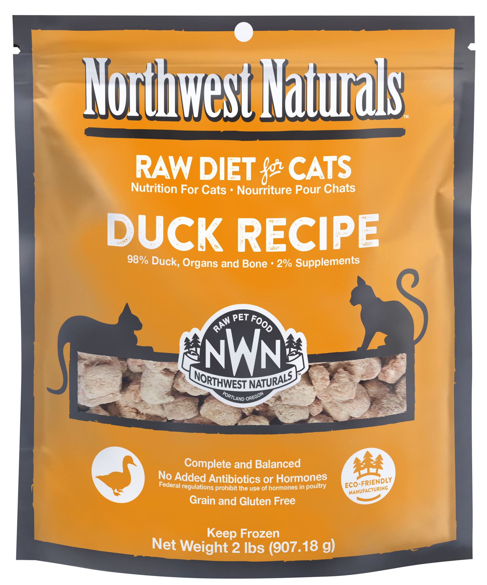 Northwest Naturals Northwest Naturals Nibbles Duck Raw Cat Food 2#