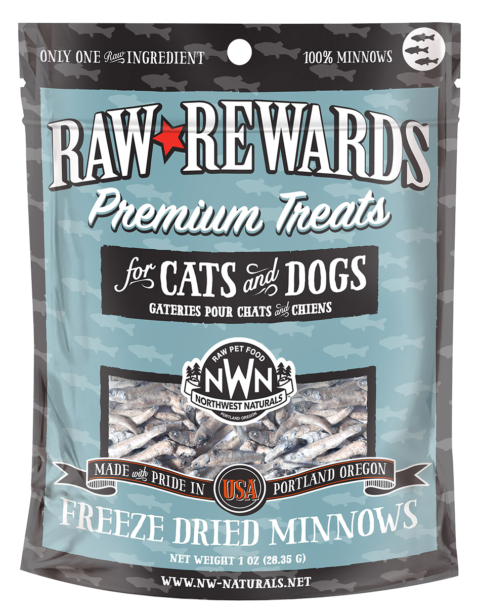 Northwest Naturals Northwest Naturals Raw Rewards Freeze Dried Minnows Cat & Dog Treats 1oz