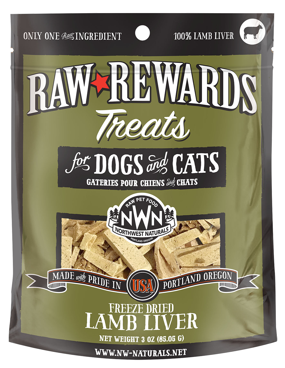 Northwest Naturals Northwest Naturals Raw Rewards Freeze Dried Lamb Liver Cat & Dog Treat 3oz