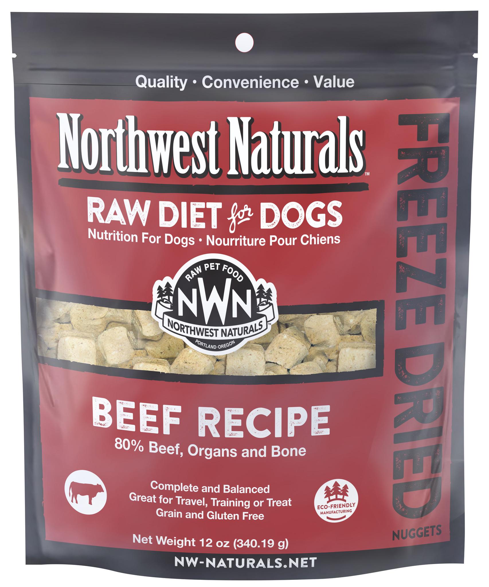 Northwest Naturals Northwest Naturals Freeze Dried Nuggets Beef Dog Food 12oz