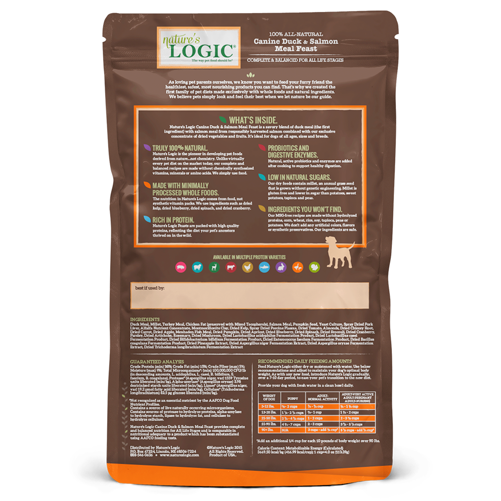 Nature's Logic Nature's Logic Duck & Salmon Dry Dog Food