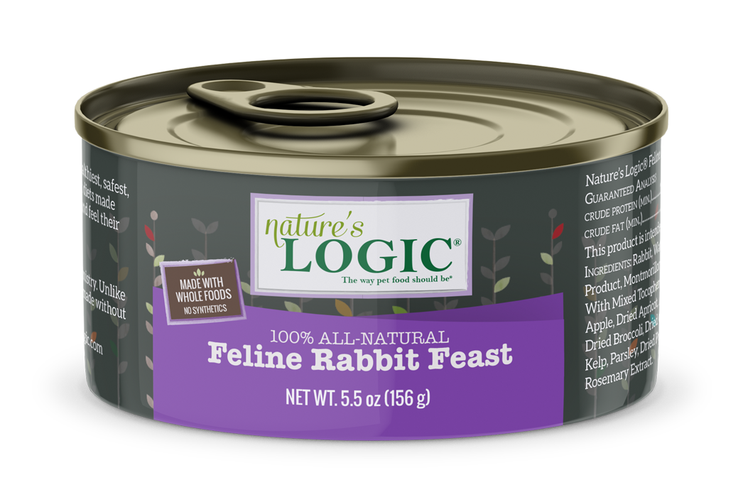 Nature's Logic Nature's Logic Rabbit Wet Cat Food 5.5oz