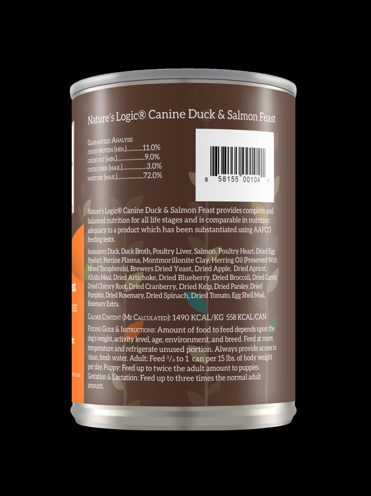 Nature's Logic Nature's Logic Duck & Salmon Wet Dog Food 13.2oz