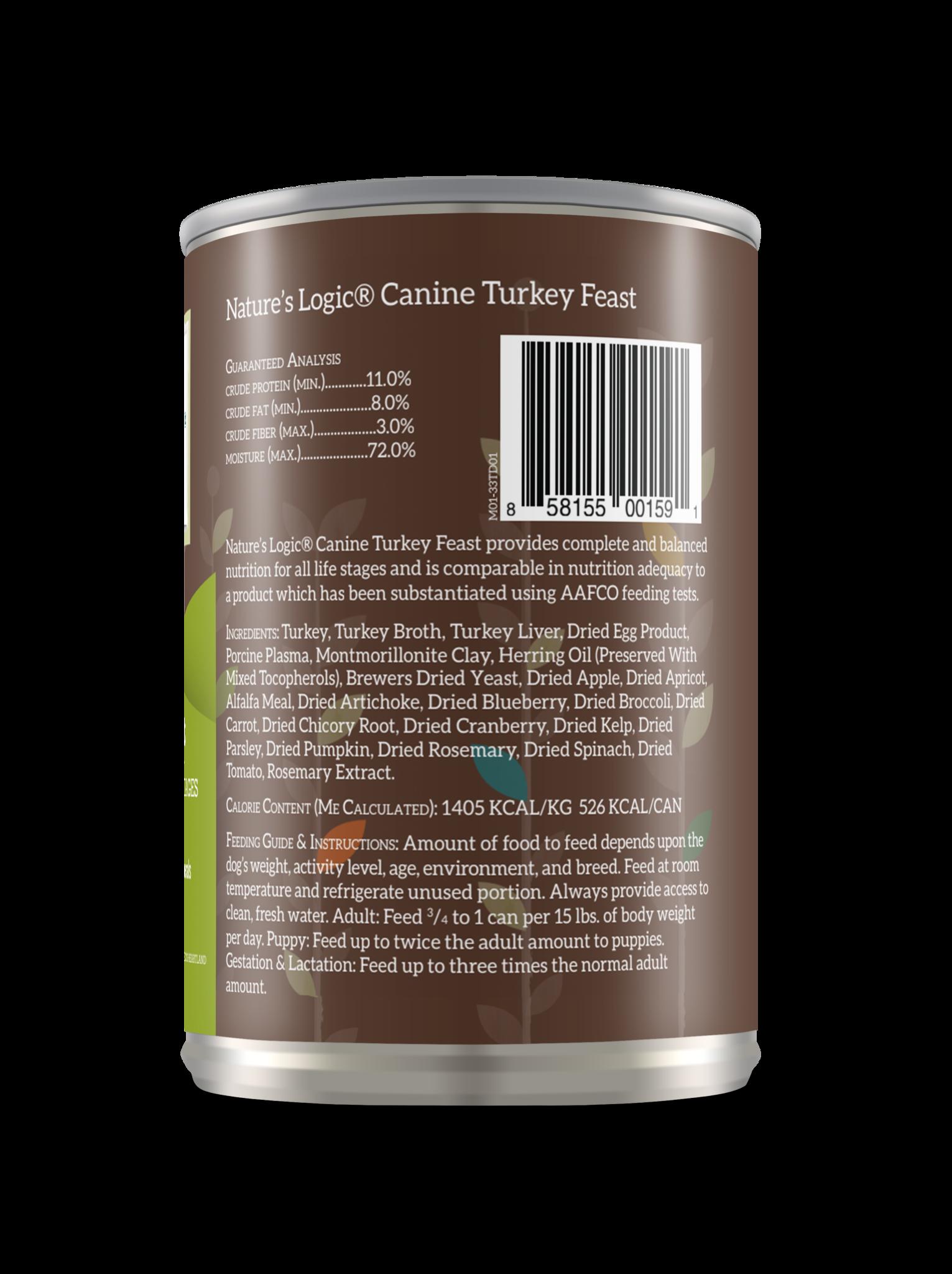 Nature's Logic Nature's Logic Turkey Wet Dog Food 13.2oz