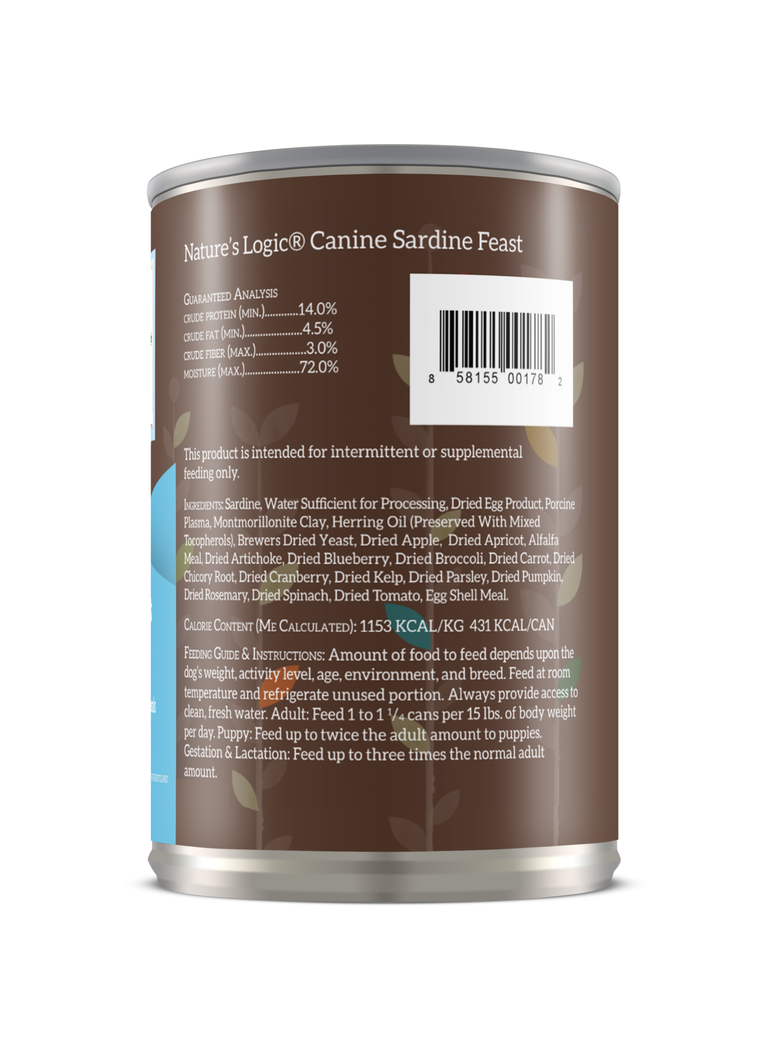 Nature's Logic Nature's Logic Sardine Wet Dog Food 13.2oz