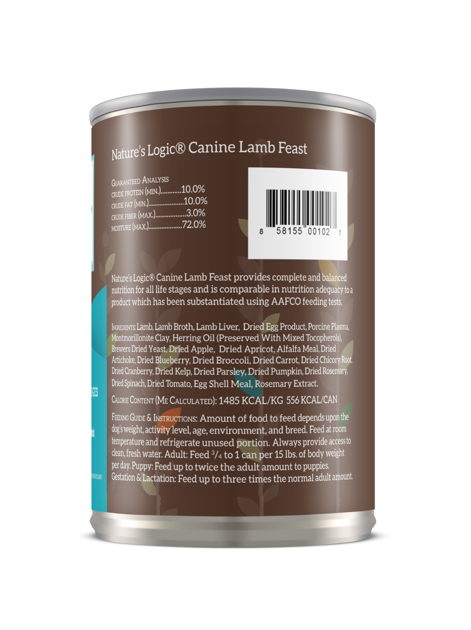 Nature's Logic Nature's Logic Lamb Wet Dog Food 13.2oz