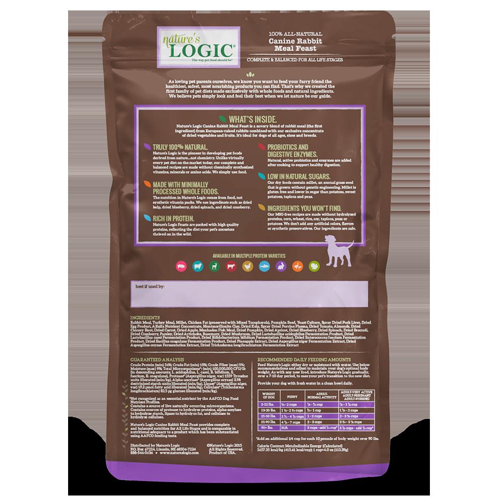 Nature's Logic Nature's Logic Rabbit Dry Dog Food