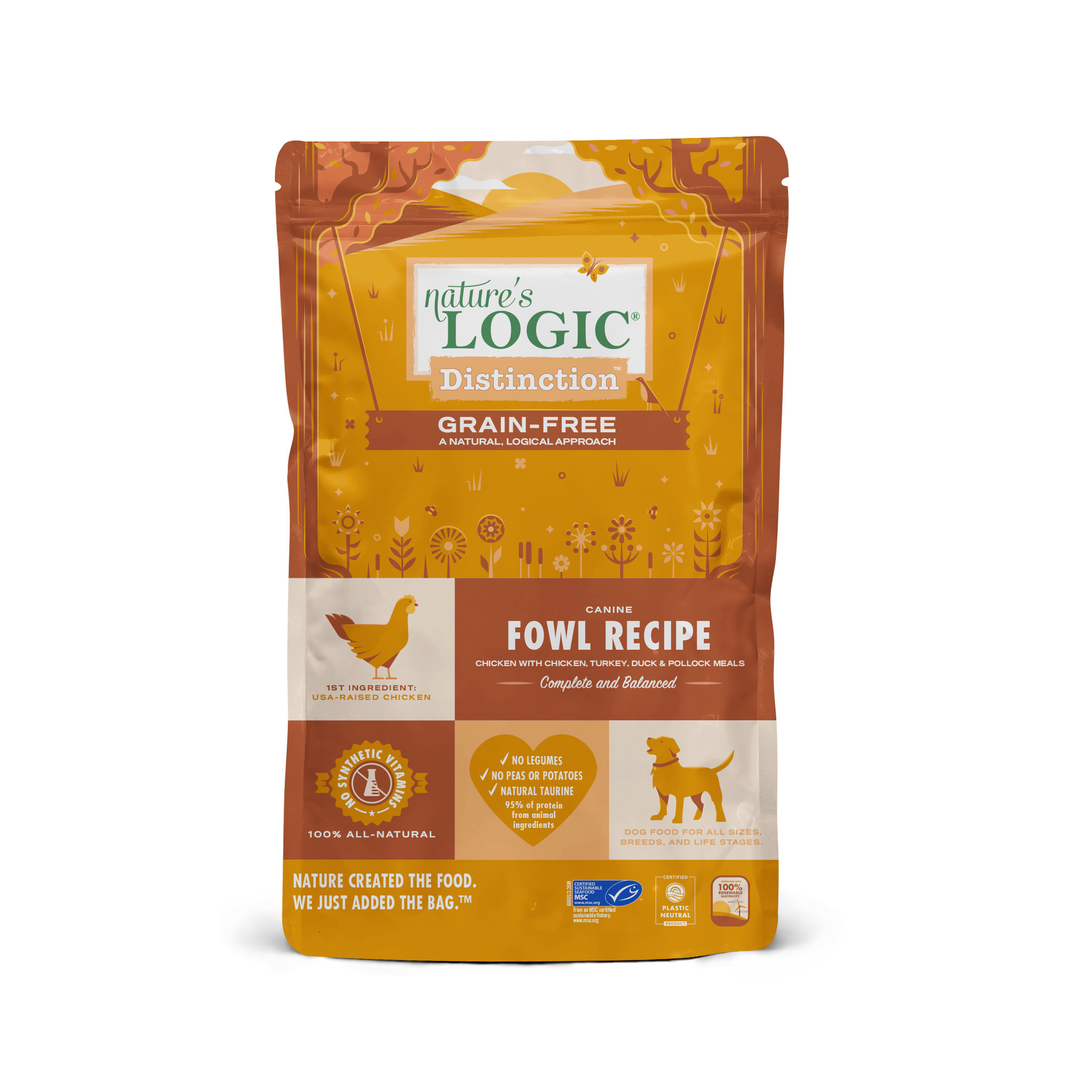 Nature's Logic Nature's Logic Distinction Grain Free Fowl Recipe Dry Dog Food