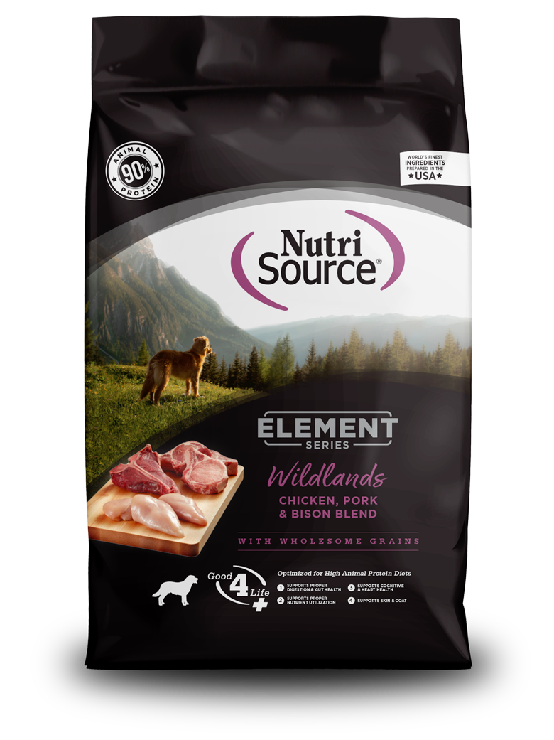 NutriSource Nutrisource Element Series Wildlands Chicken, Pork & Bison Dry Dog Food
