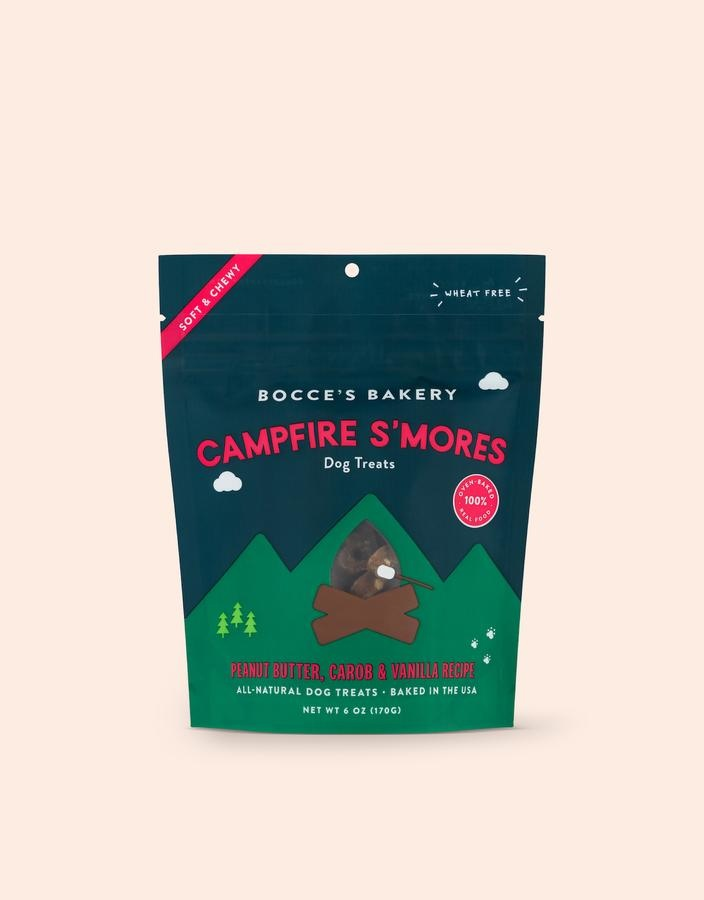 Bocce's Bakery Bocce's Bakery Campfire S'mores Soft Chew Dog Treat 6oz
