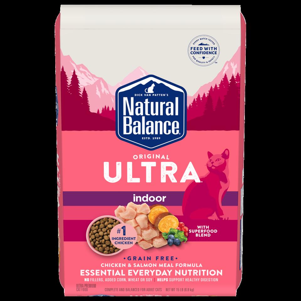 Natural Balance Natural Balance Ultra Indoor Chicken & Salmon Dry Cat Food 6#