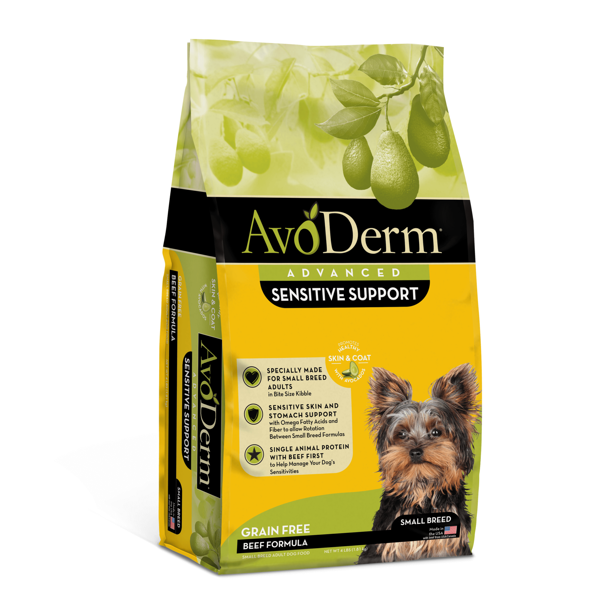 AvoDerm AvoDerm Sensitive Support Grain Free Small Breed Beef Dry Dog Food