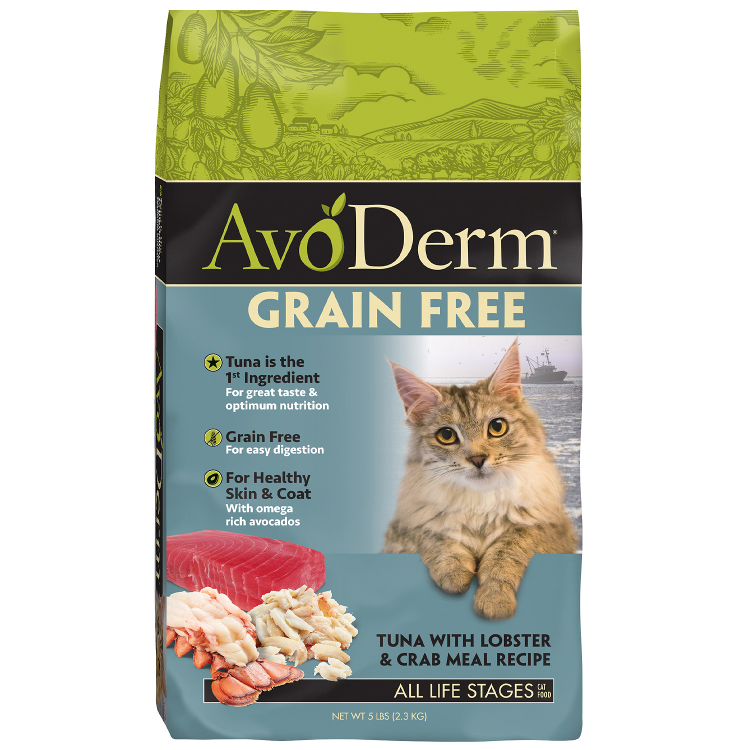 AvoDerm AvoDerm Grain Free Tuna with Lobster & Crab Meal Dry Cat Food