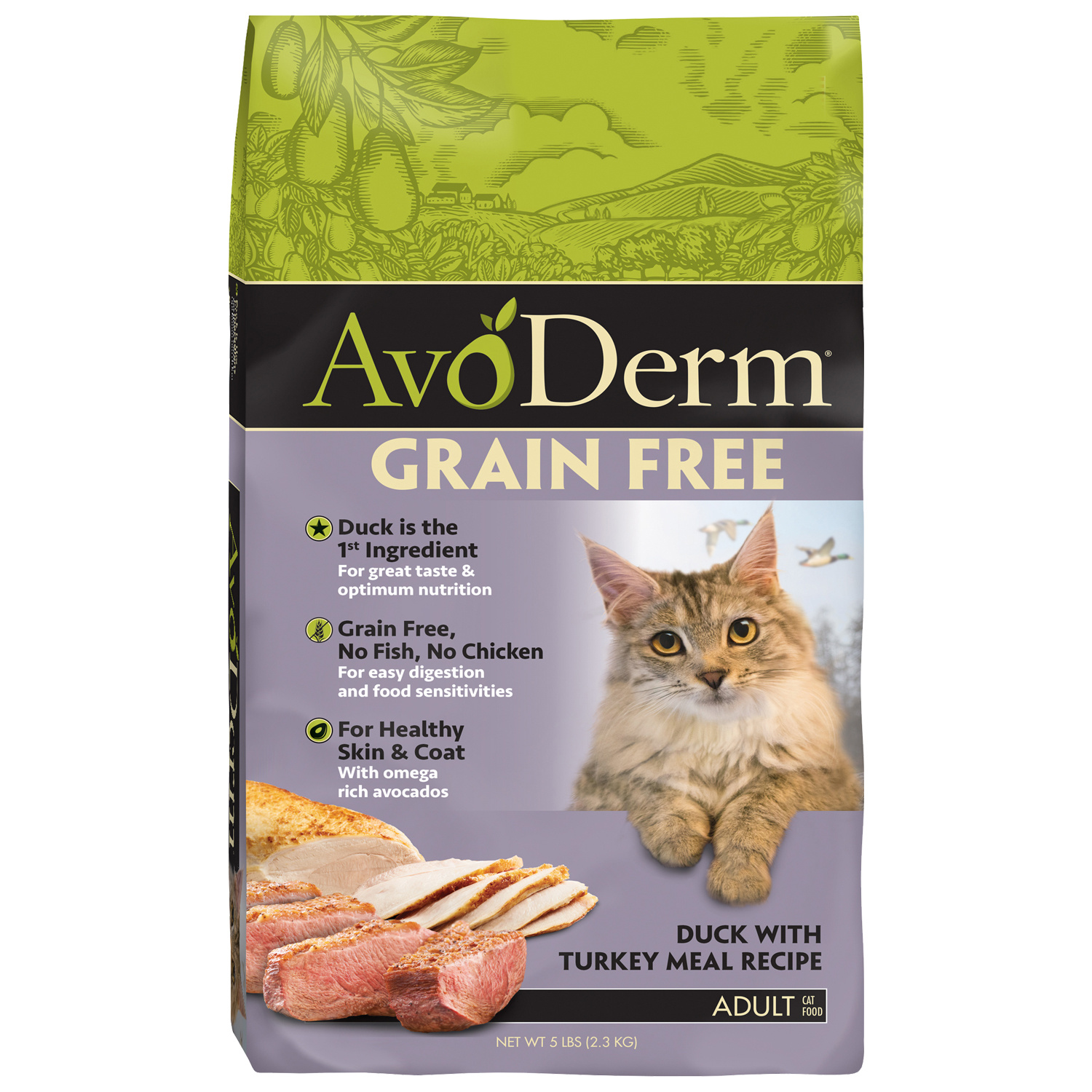 AvoDerm AvoDerm Grain Free Duck with Turkey Meal Dry Cat Food