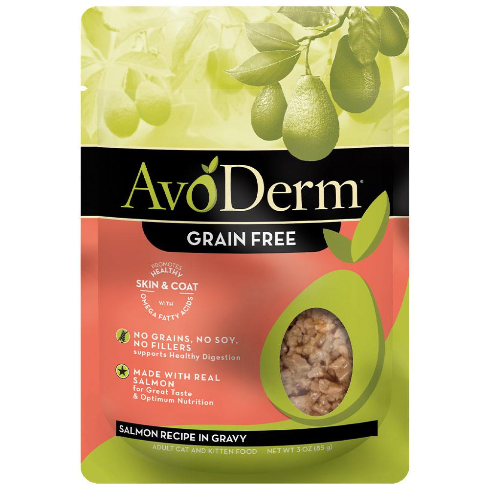 AvoDerm AvoDerm Salmon in Gravy Wet Cat Food Pouch 3oz